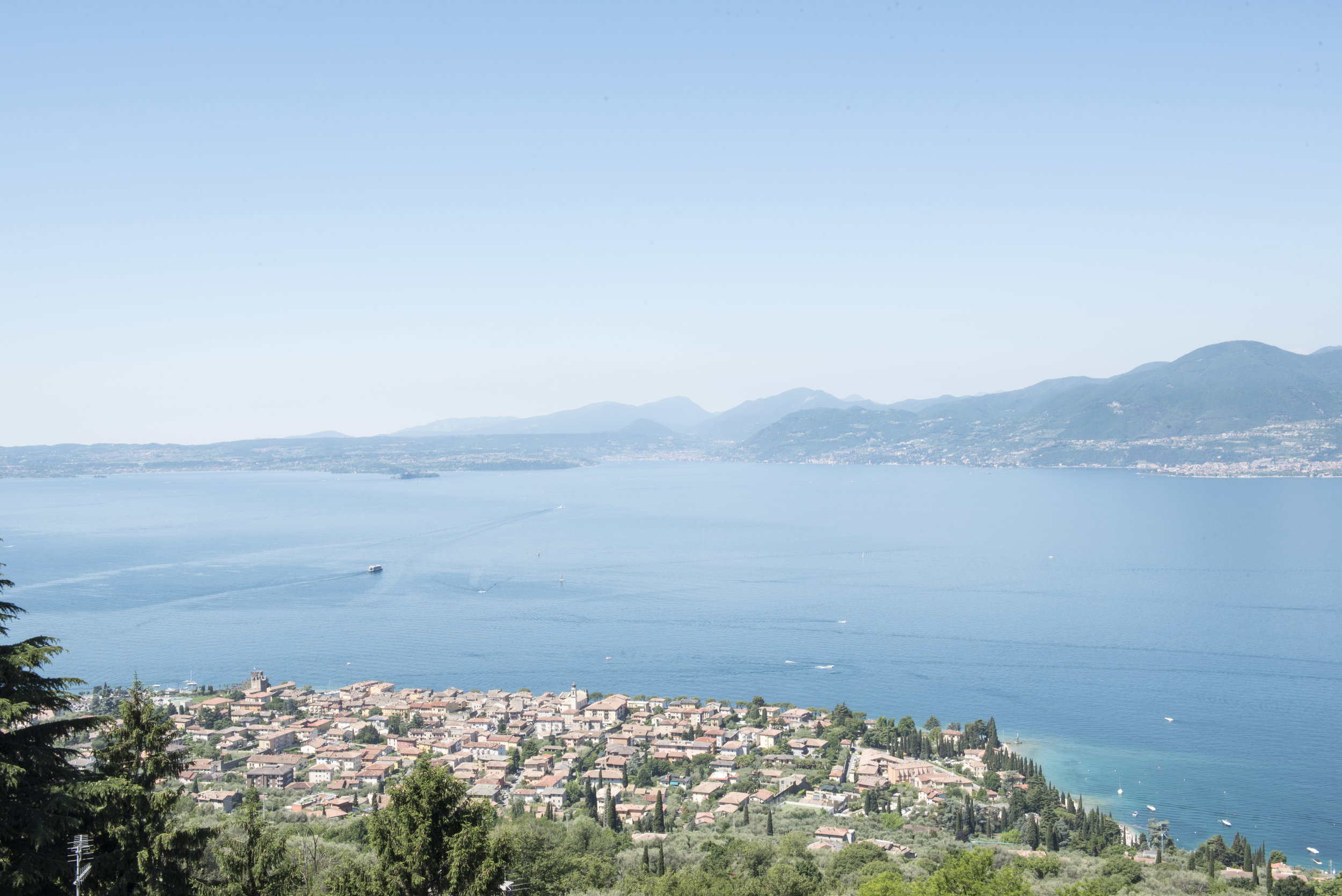 a view of the lake in Lake Garda, Italy