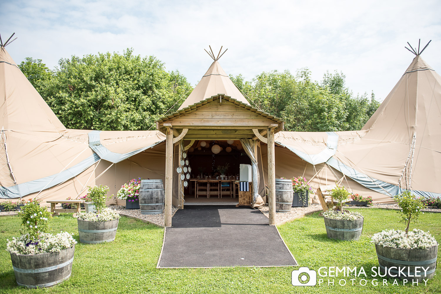 tipi at Oaklands in Driffield