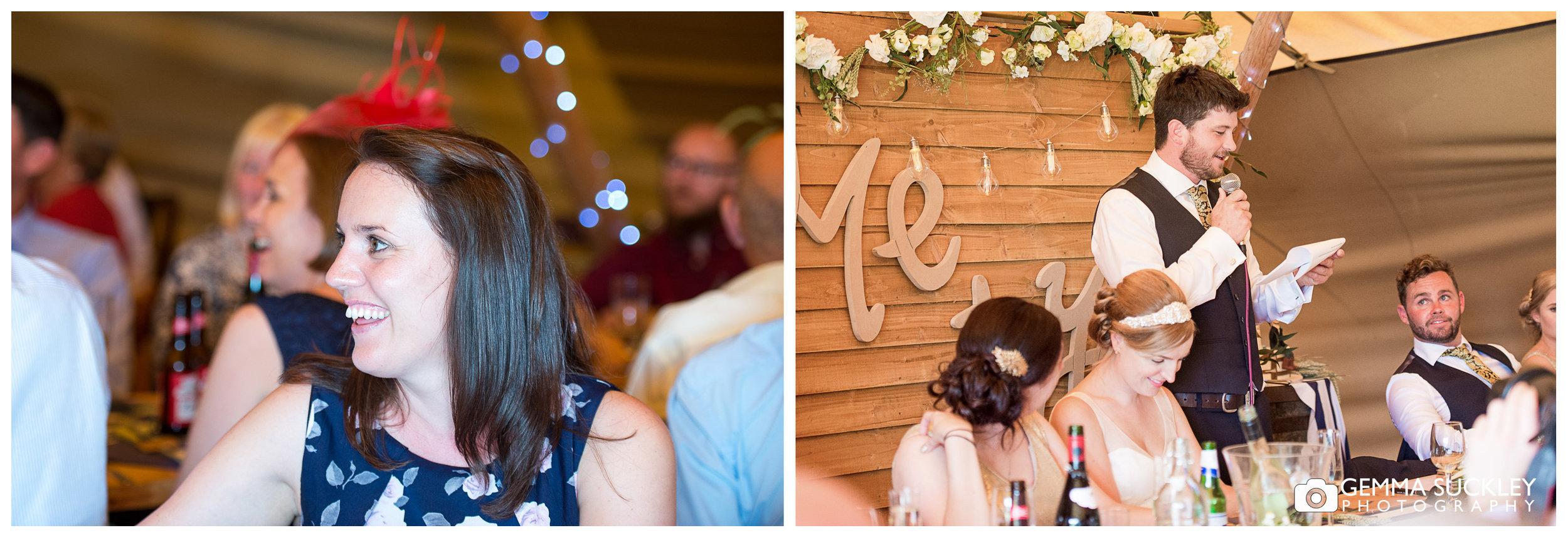 wedding speeches at oaklands in Est Yorkshire