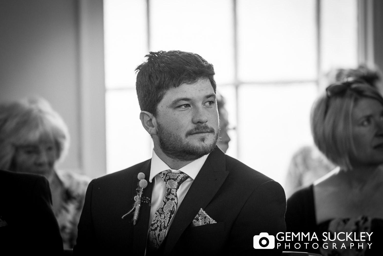 groom awaiting the bride in Driffield church