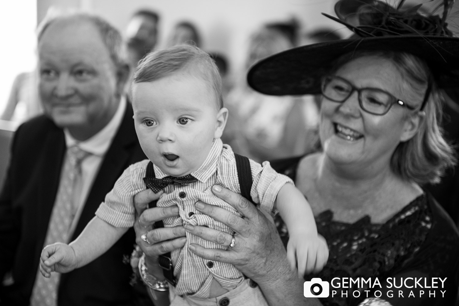 baby watch the ceremony in Driffield church