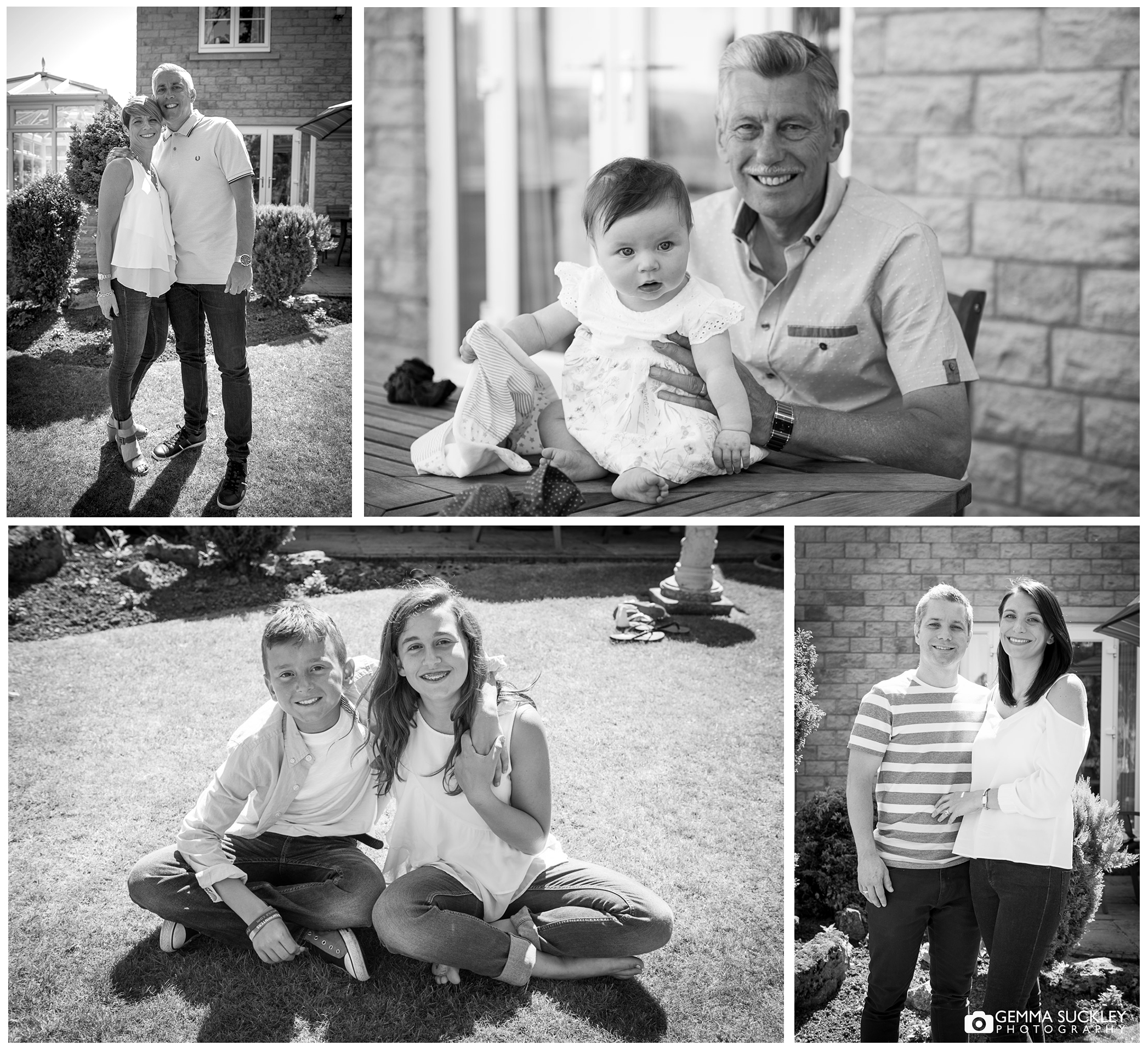 black and white photo of a family in Leeds