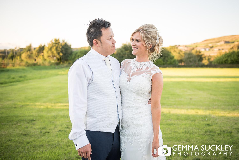 Bride and groom wedding photography at The Moorlands Inn, halifax