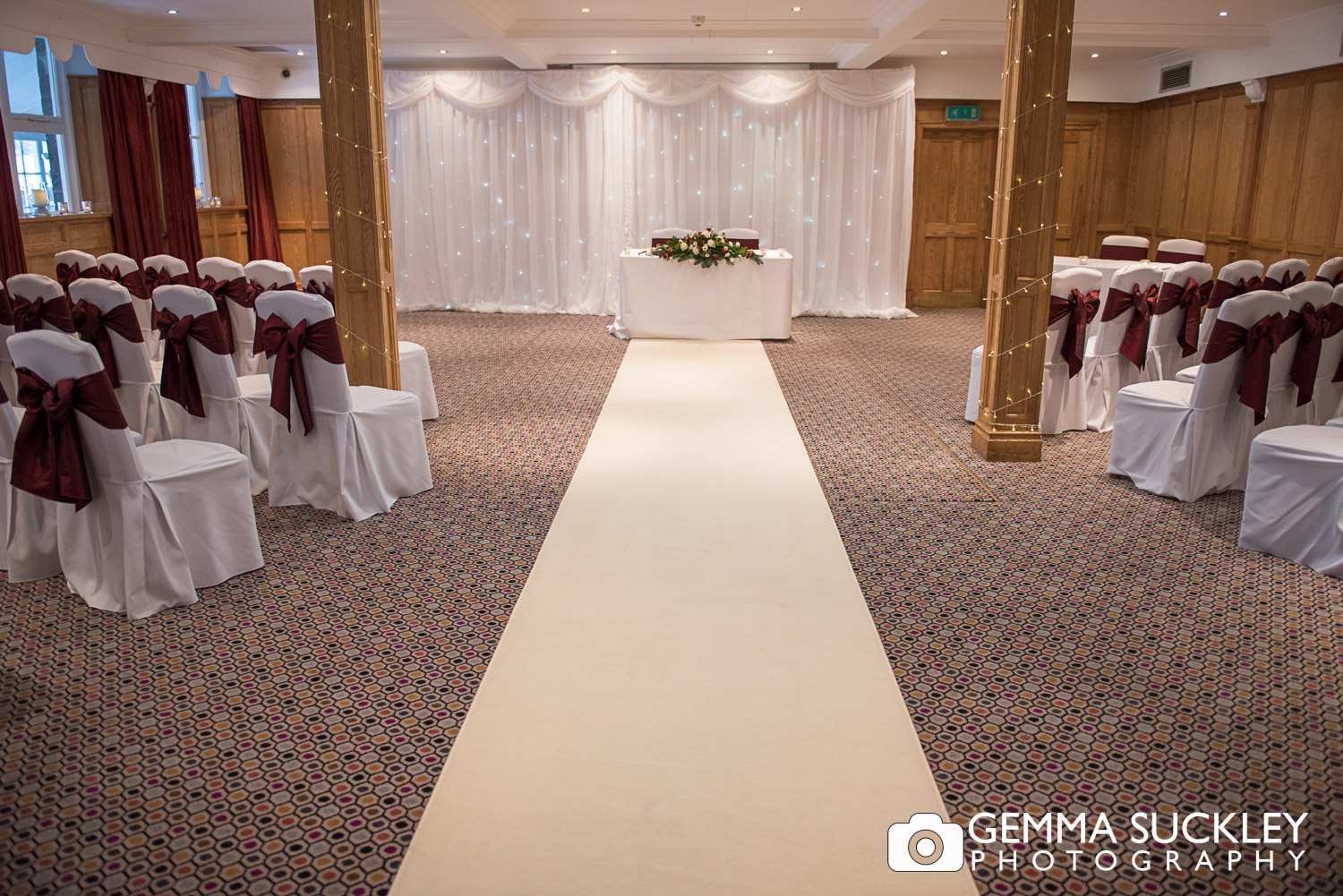 The wedding ceremony room at The Devonshire Arm, Bolton Abbey