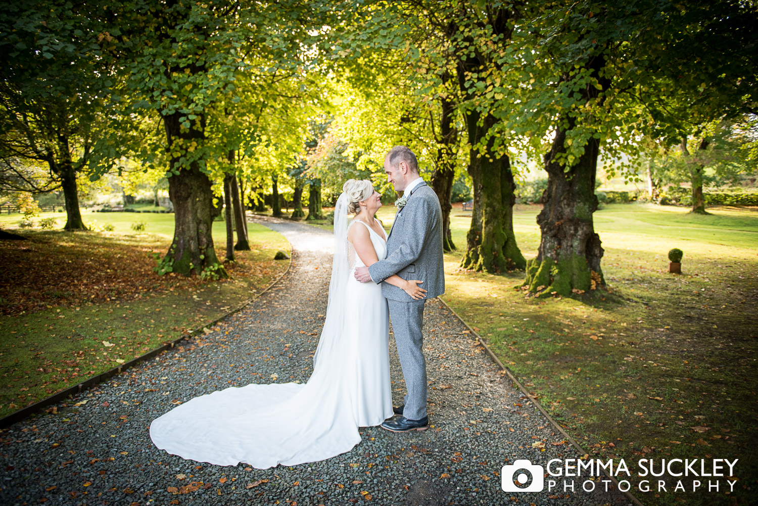 Blemount Hall bride and groom portrait