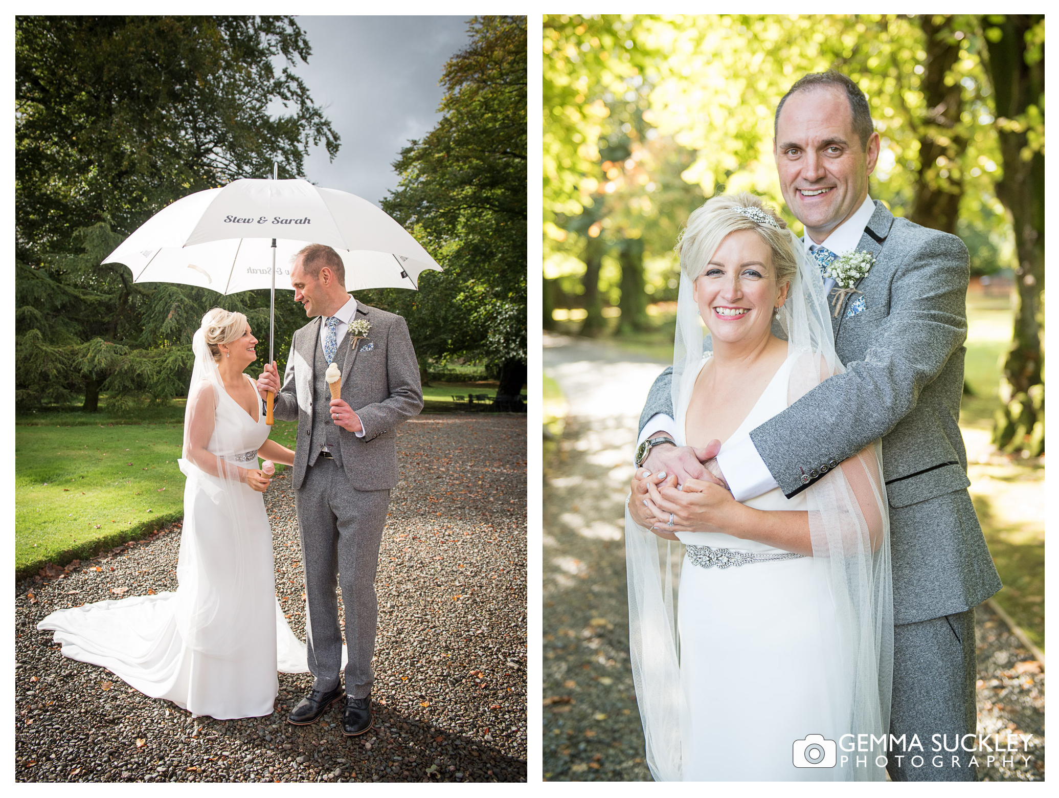 wedding photography of bride and groom at Belmount Hall