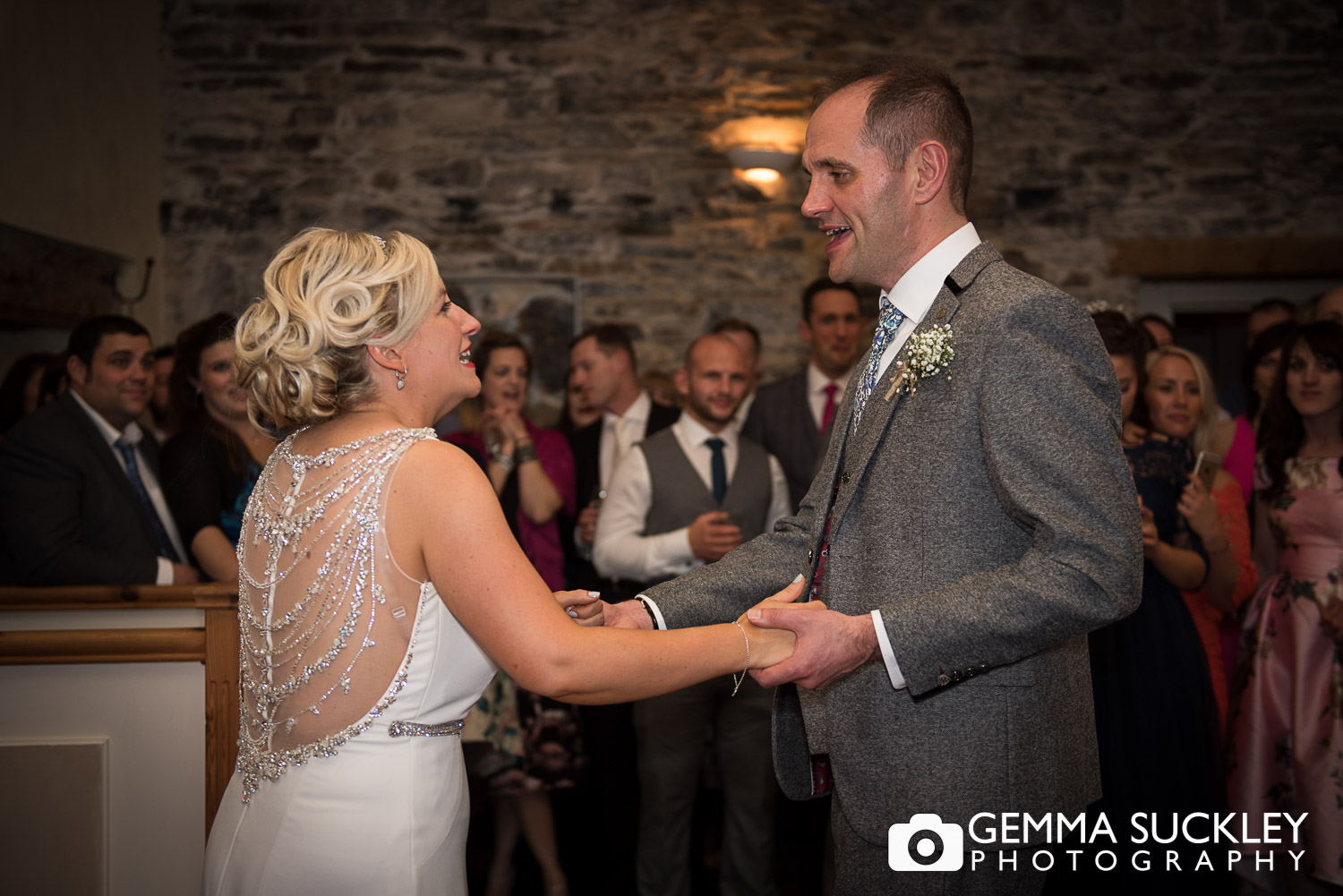 first dance at Belmount Hall wedding in Hawkshead