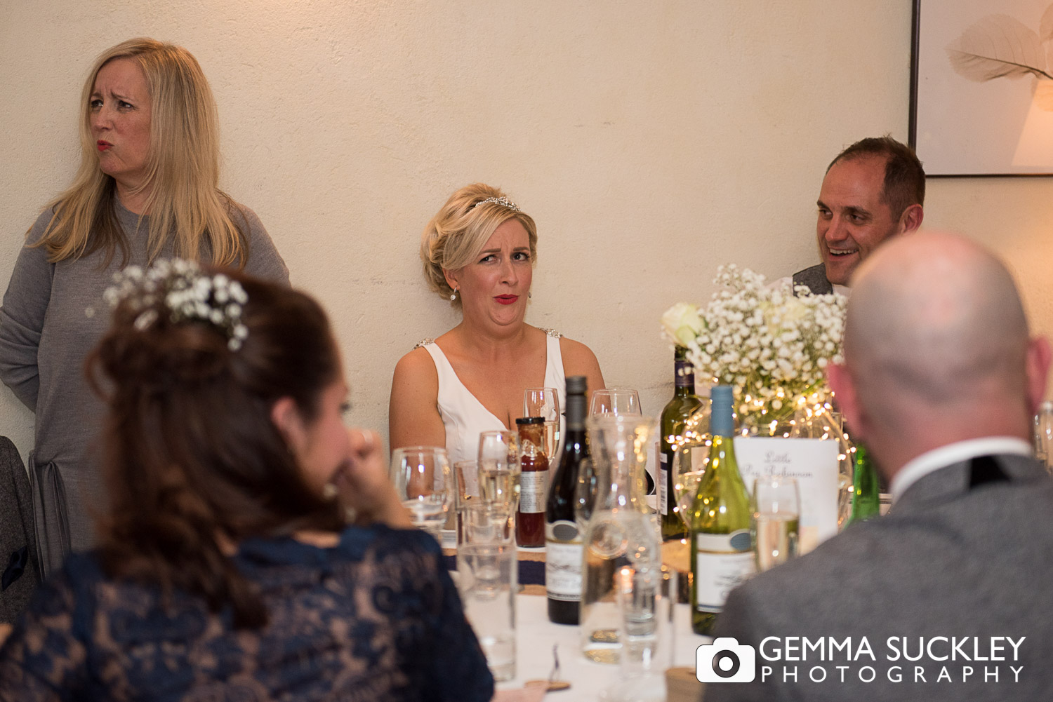 wedding speech photography at belmount hall