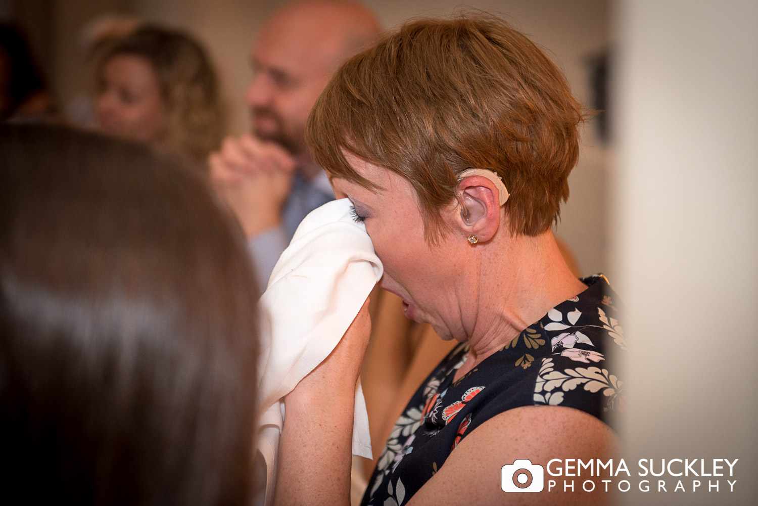wedding guest crying at speeches