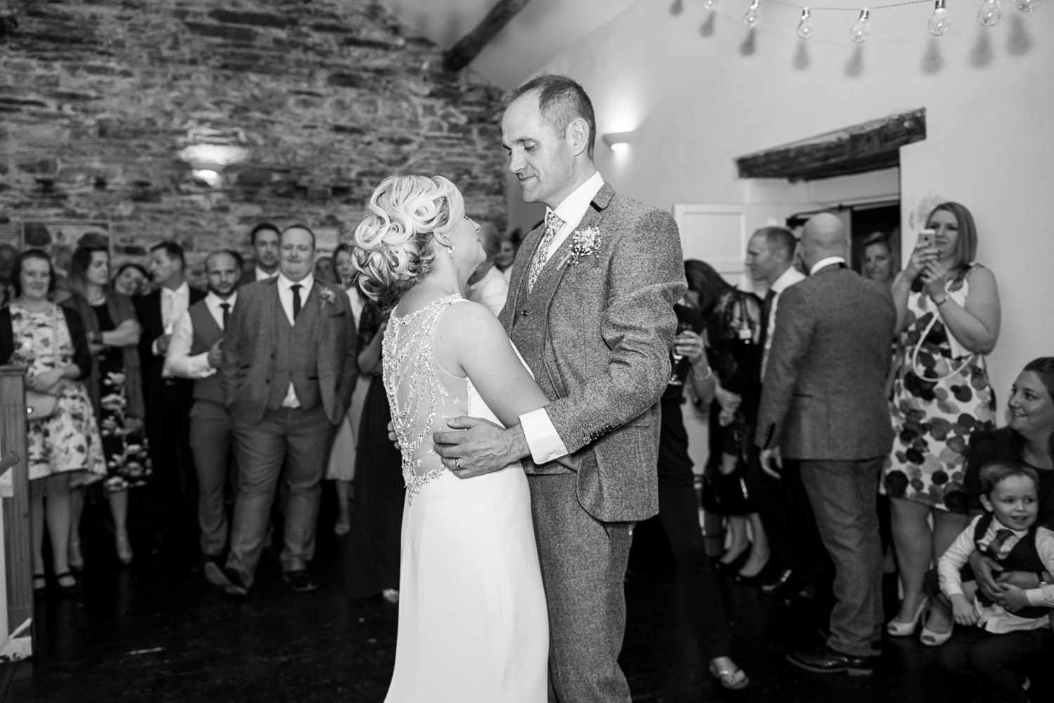bride and groom's first dance at Belmount Hall