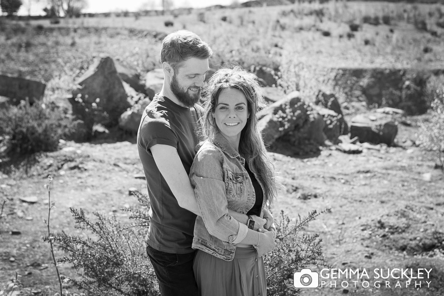 couple during their engagement photo shoot