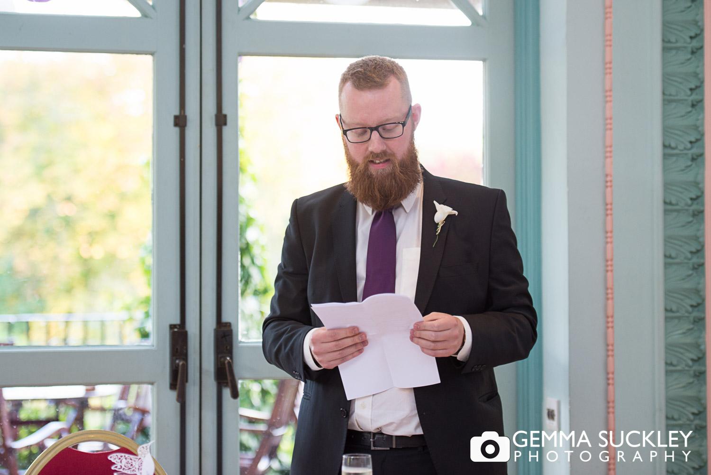 best mans's wedding speech at sun pavilion