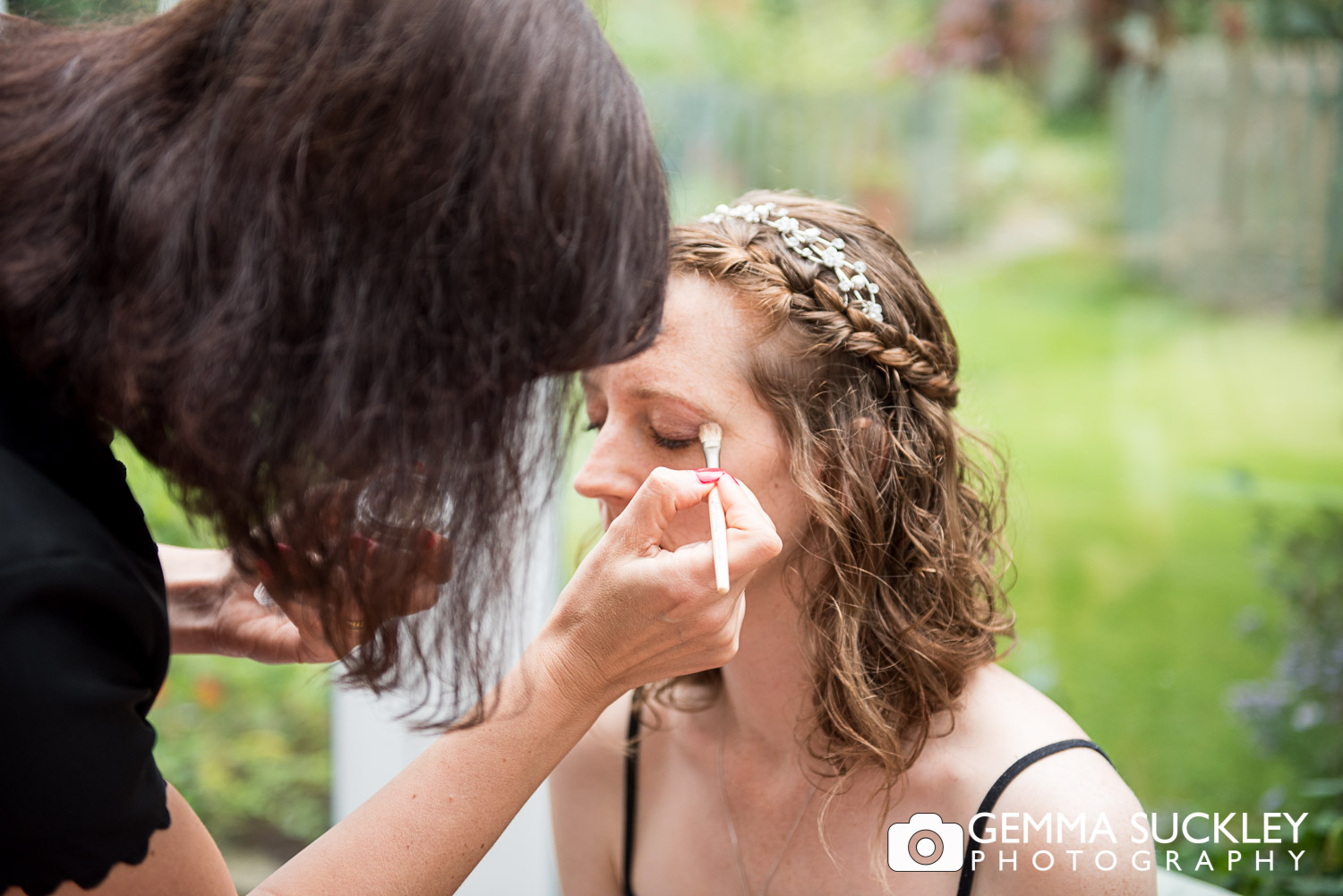 bride getting her done