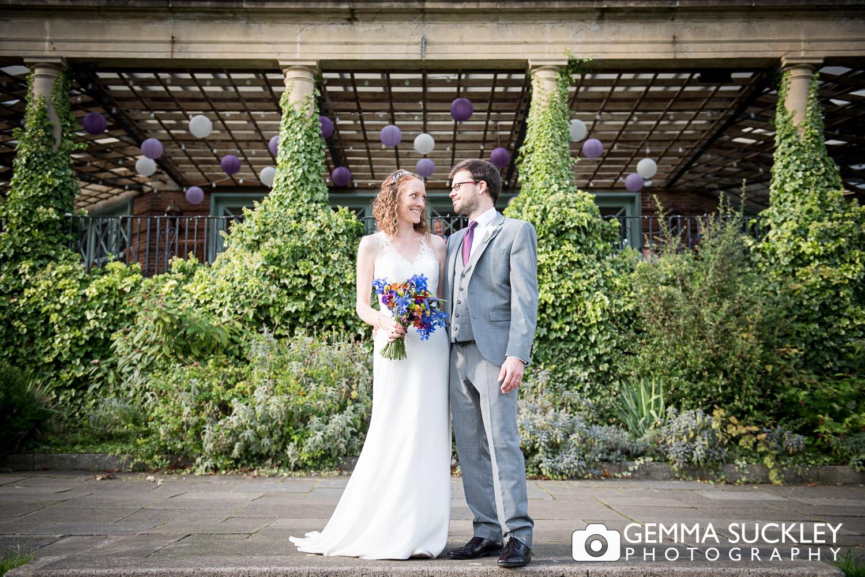 Bride and Groom wedding photography in Valley Garden's, Harrogate