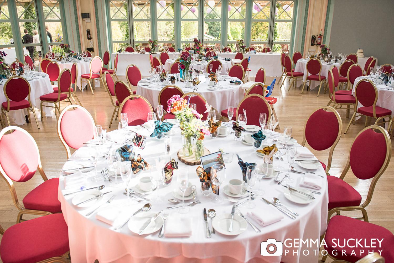 wedding table detail at Sun Pavilion