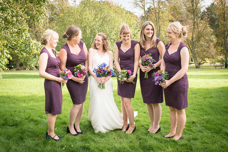 wedding photos in Valley Garden's in Harrogate