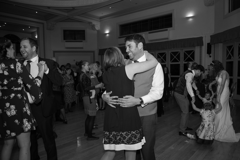 wedding guests dancing at Sun Pavilion wedding reception