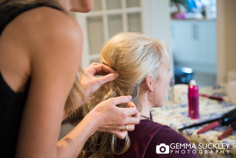 Harrogate wedding hair stylist