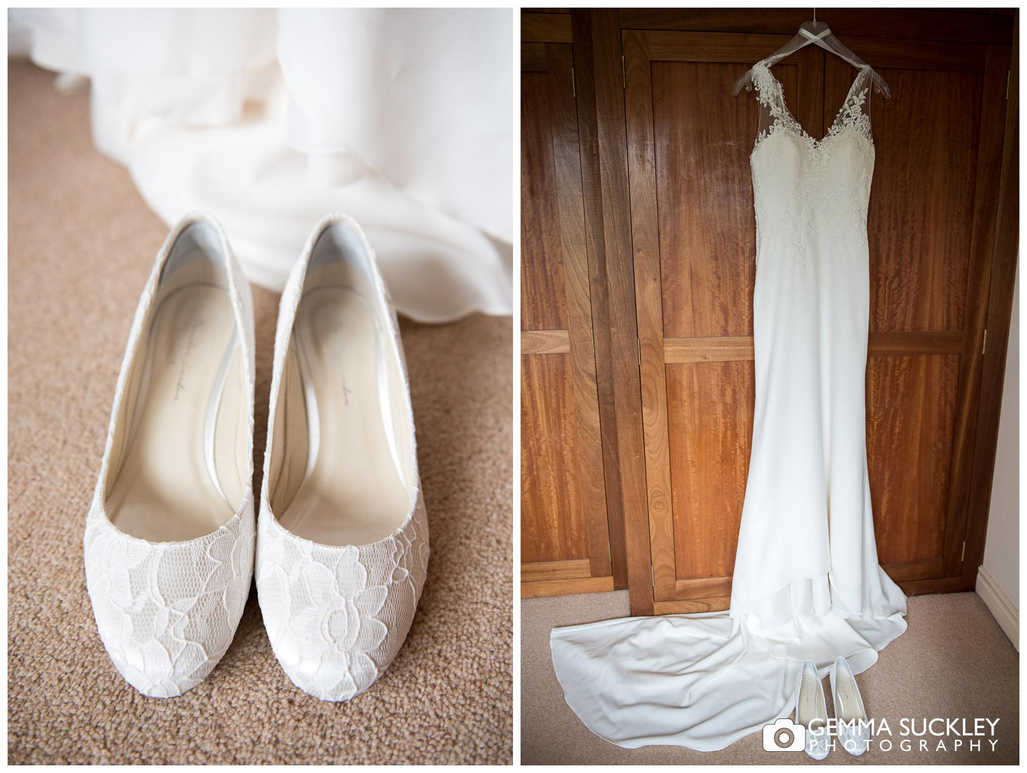 Harrogate bride's wedding dress