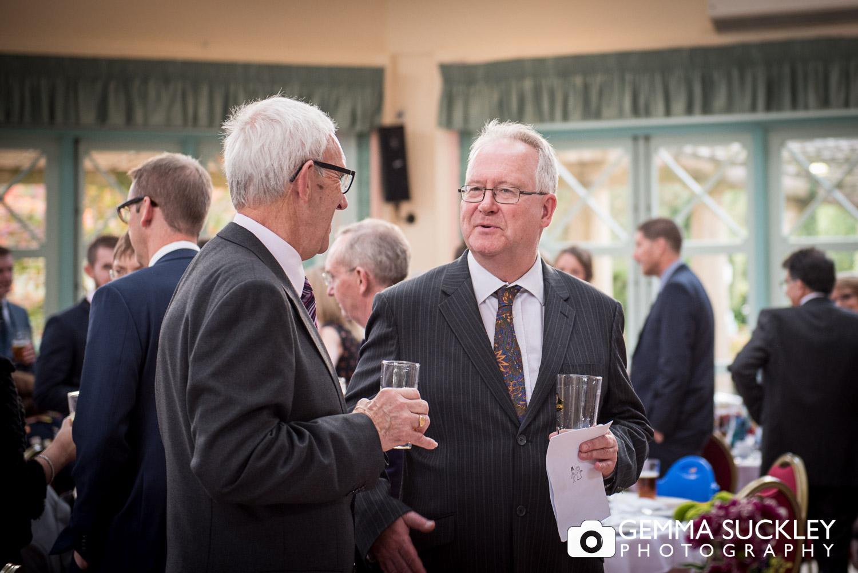 wedding guests at Harrogate Sun Pavilion
