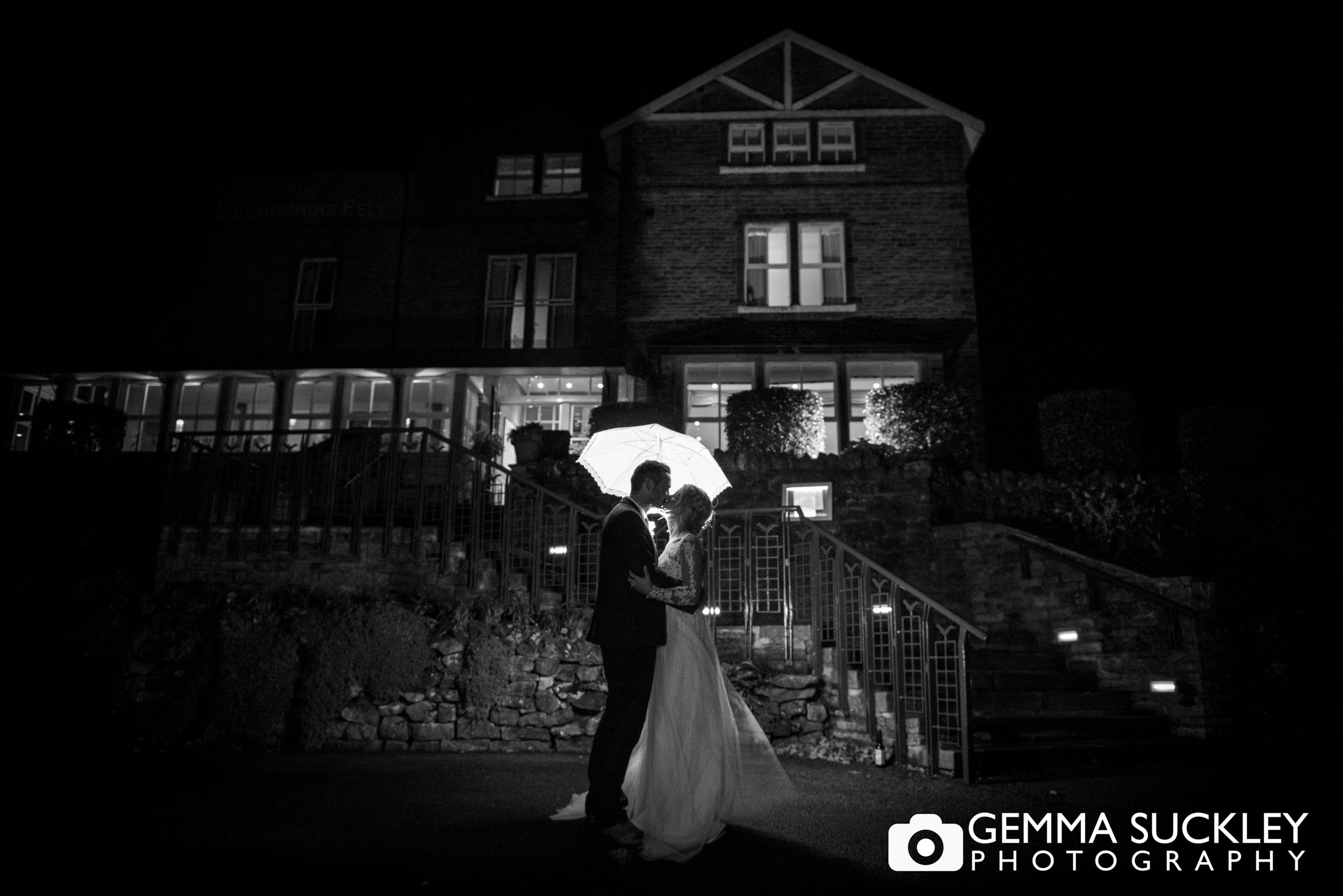 night wedding photography at the Devonshire Fell in Burnsall