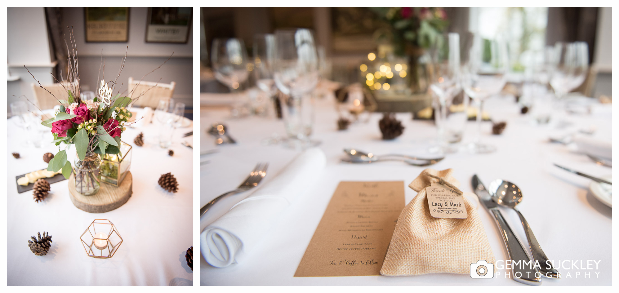 photography of the Devonshire Fell wedding room