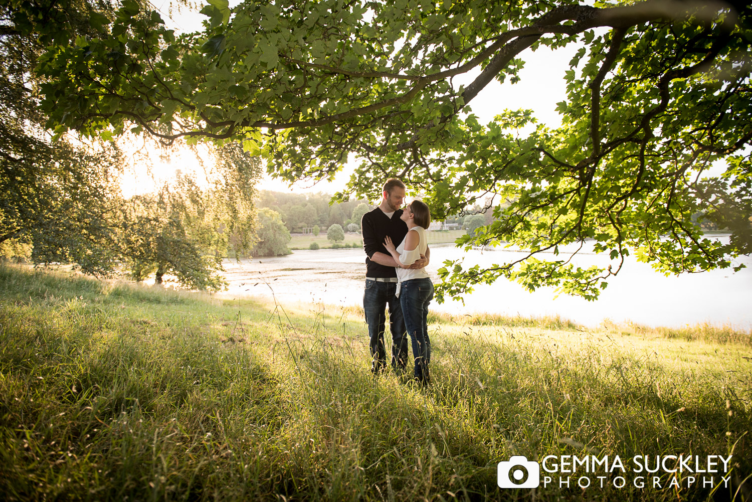 Couple on their pre-wedding photo shoot at Coniston