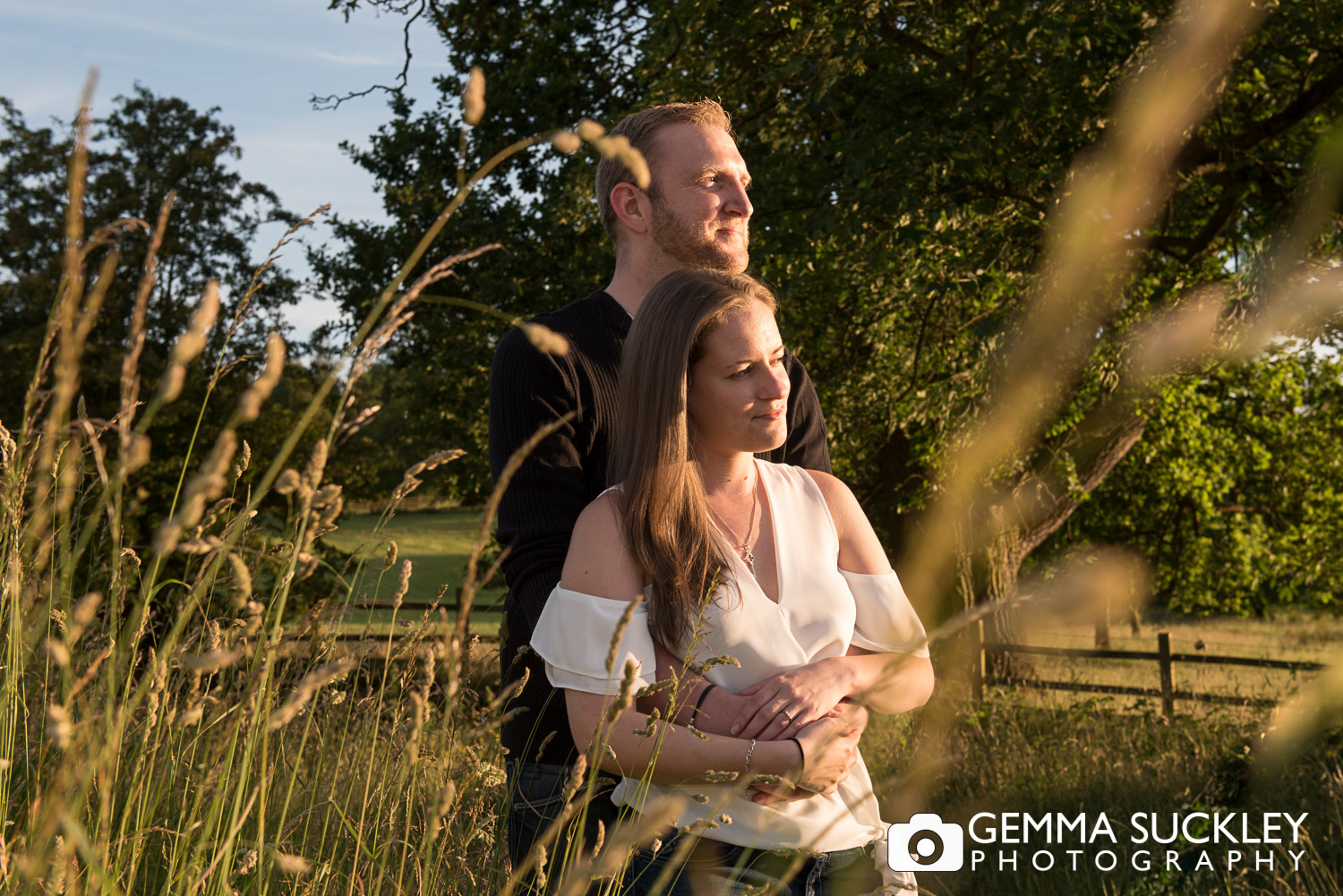 golden hour pre-wedding-photos at Coniston Hall