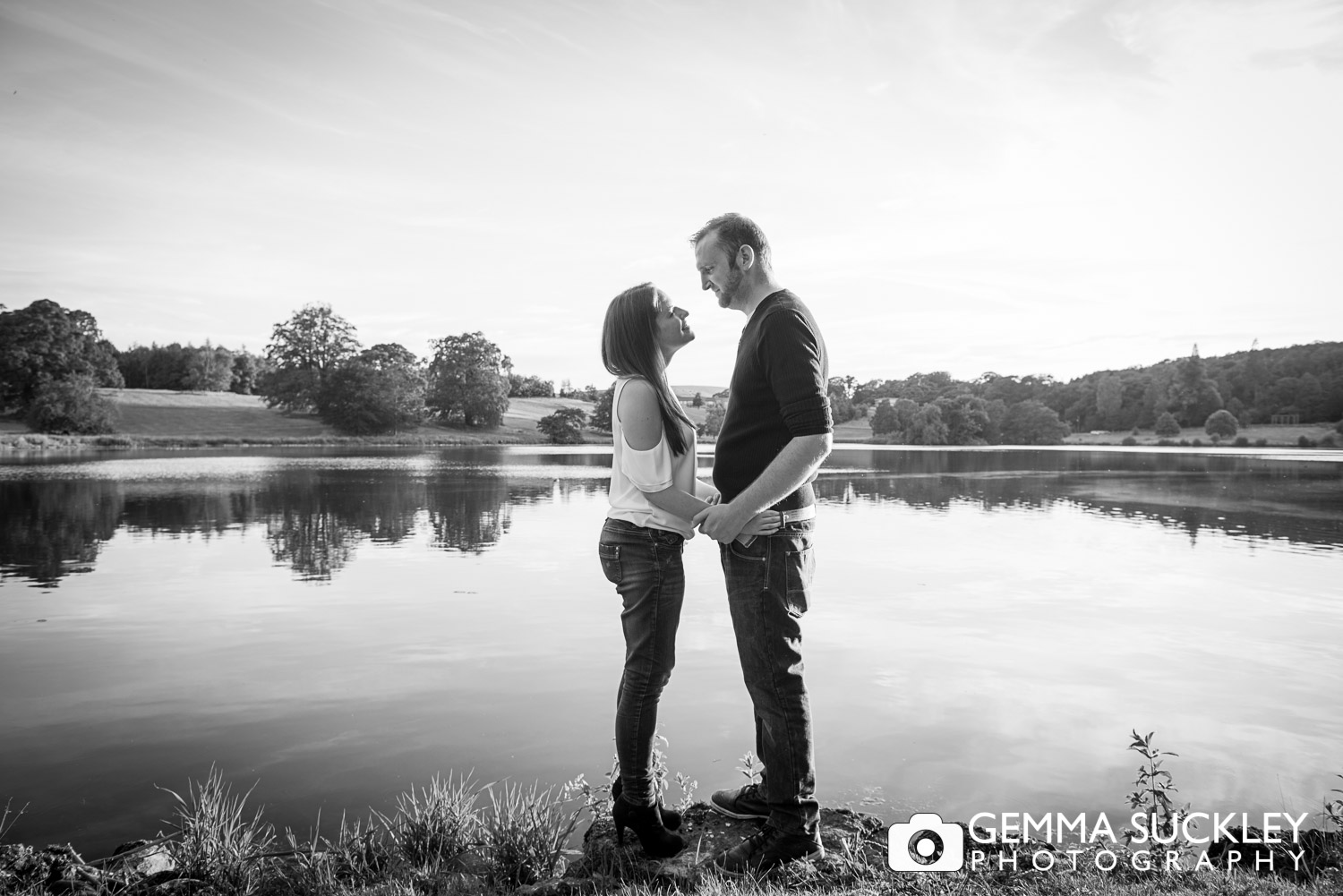 Pre-wedding photo shoot of a couple at Coniston Hall