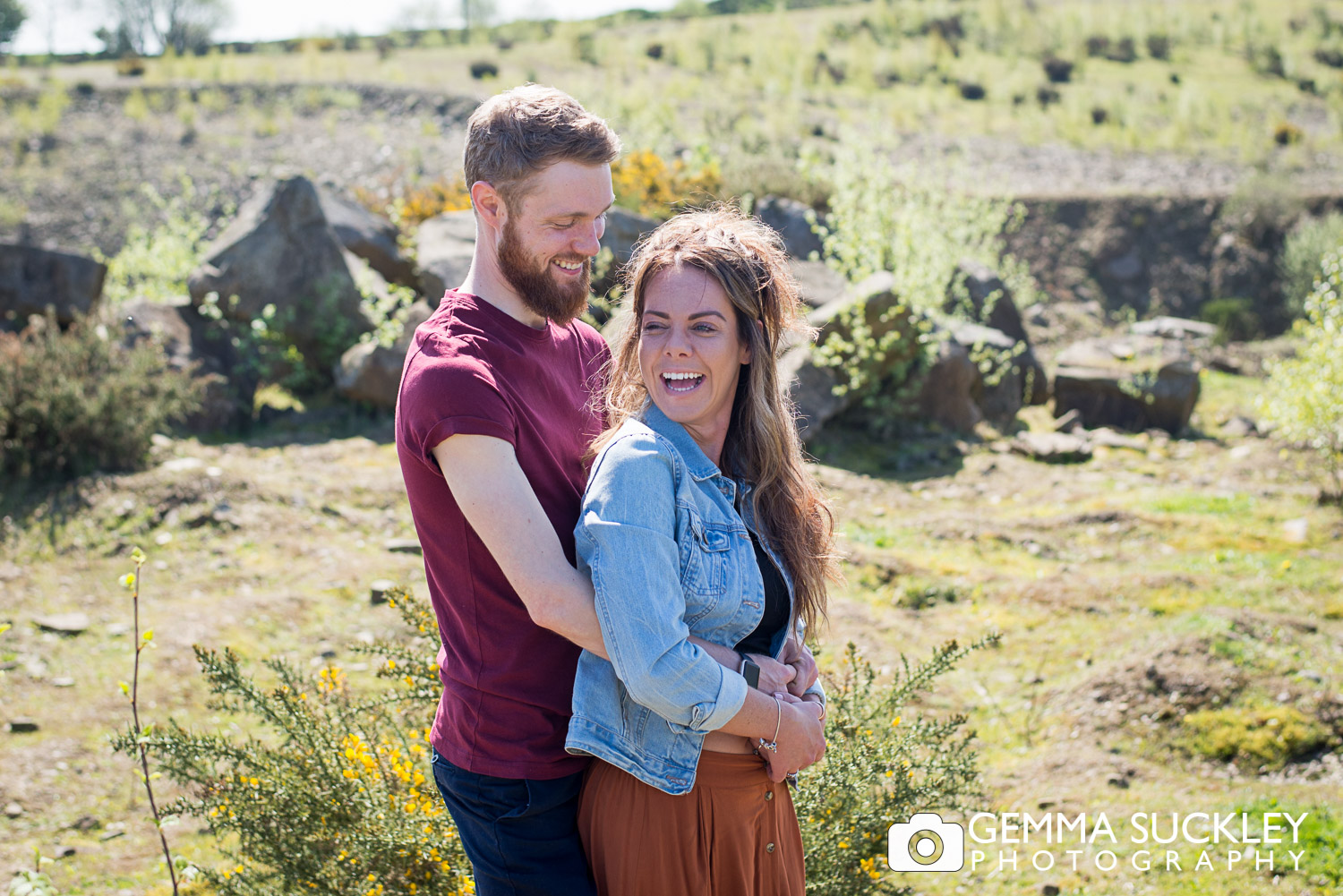 engaged couple during their engagement photo shoot