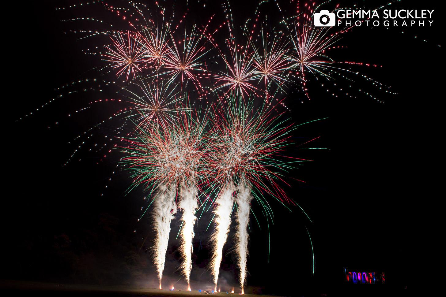 wedding  fireworks by optimum fireworks