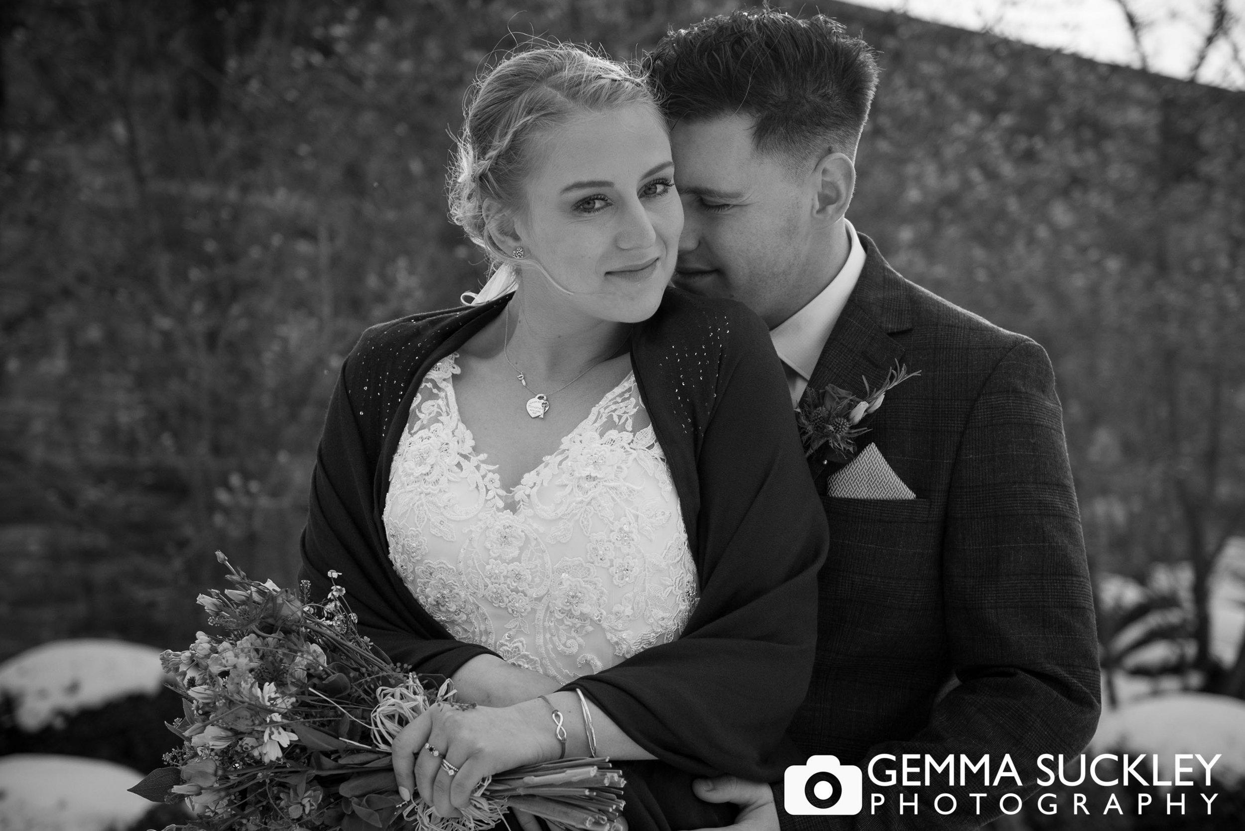 bride and groom at utopia wedding