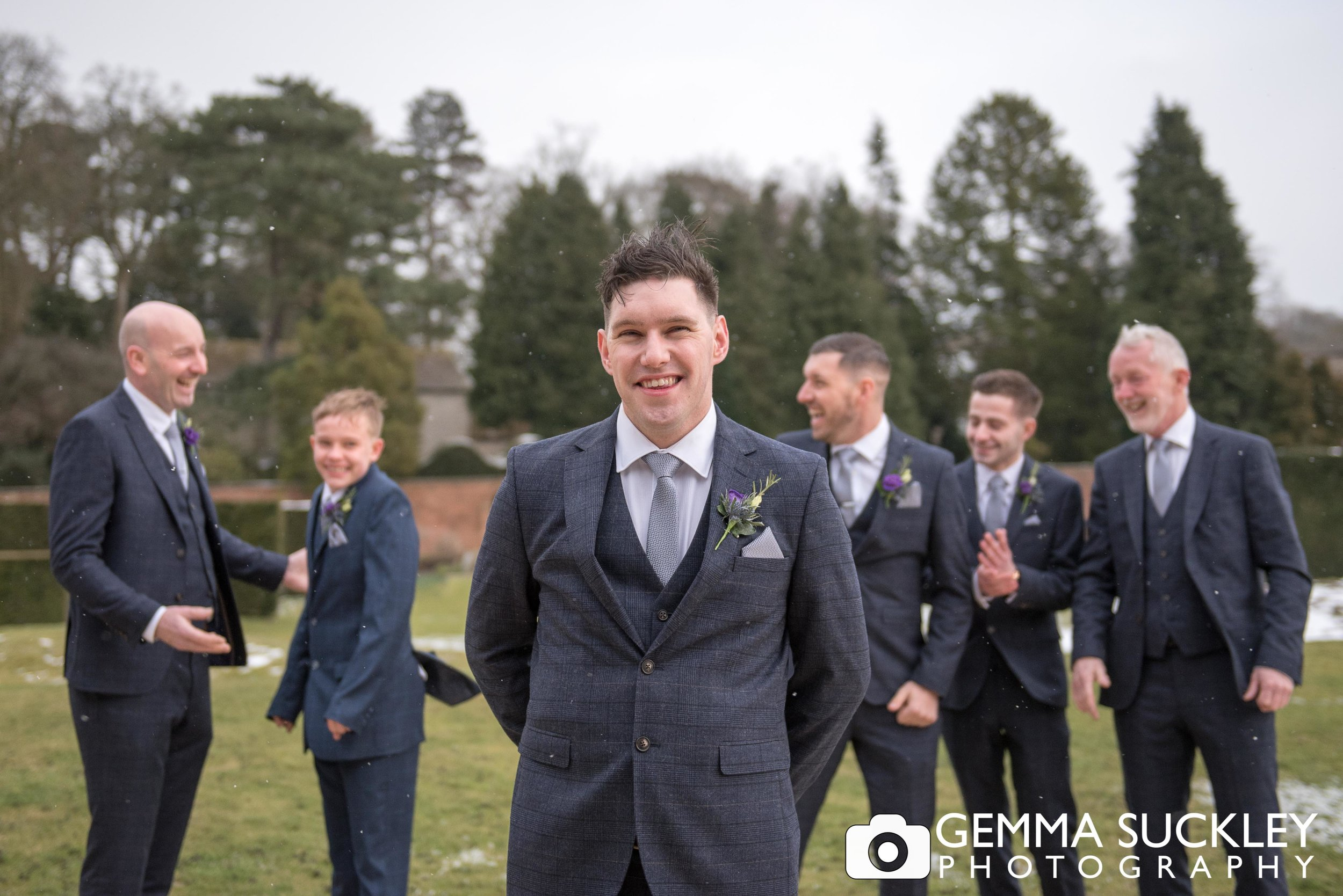 grooms party at uptopia wedding