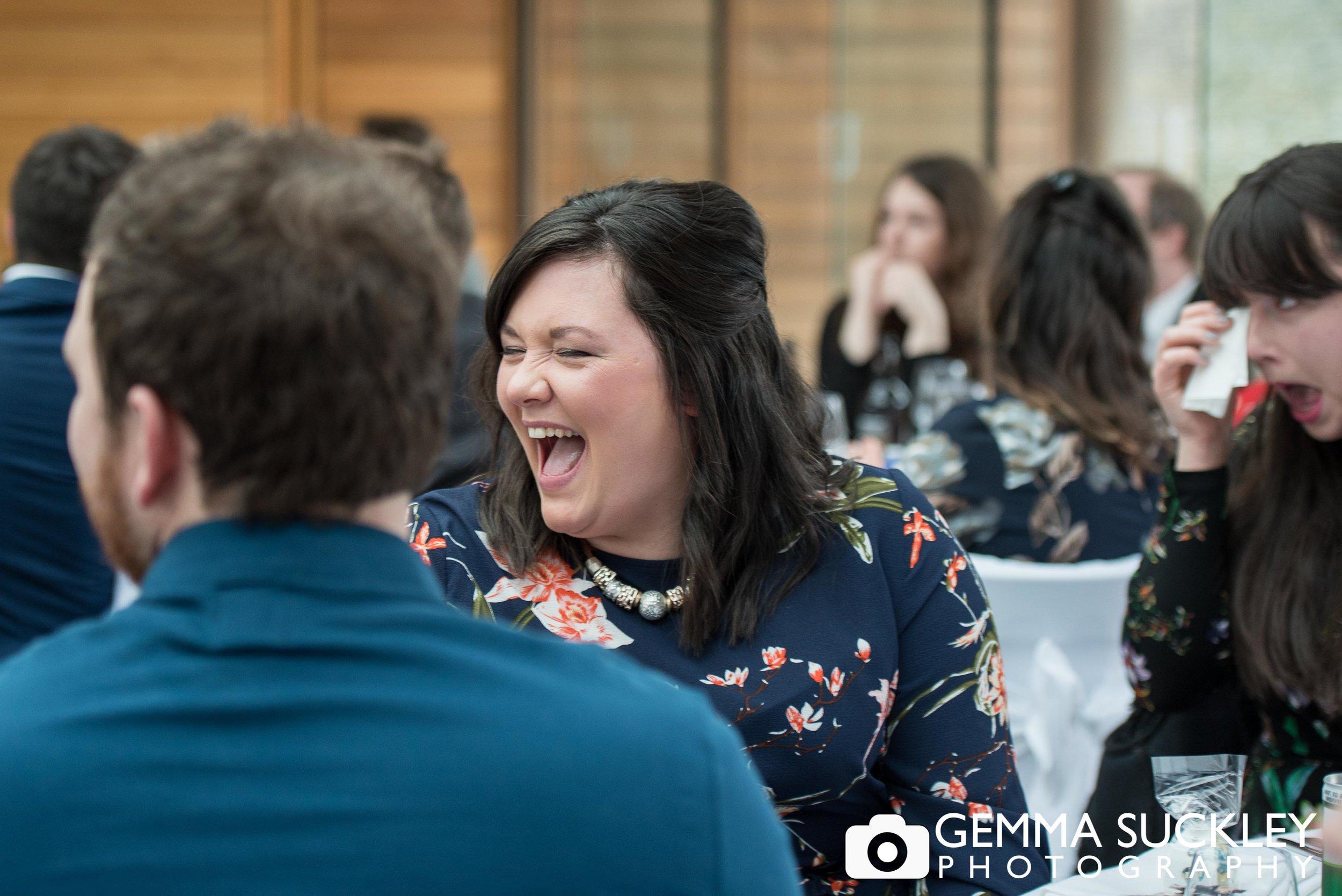 wedding guests reaction at utopia wedding