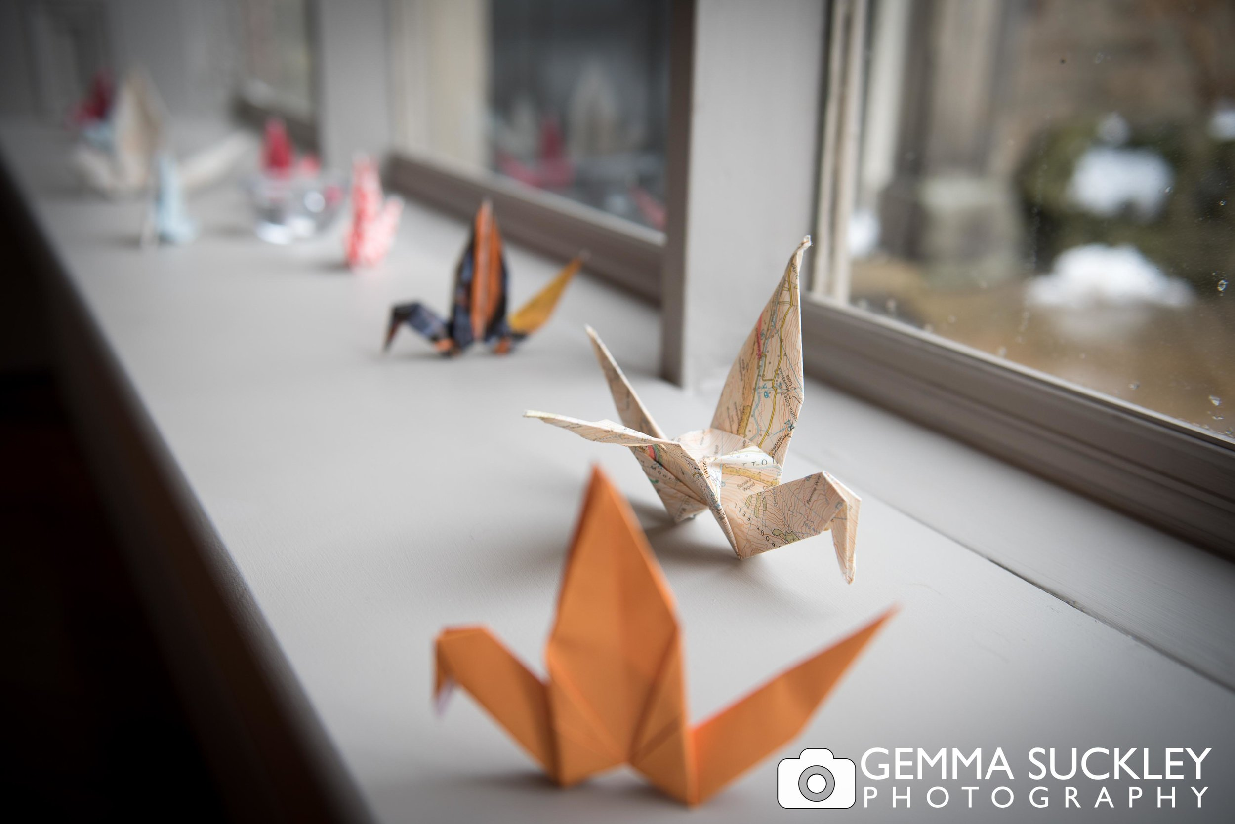 origami wedding detail photo