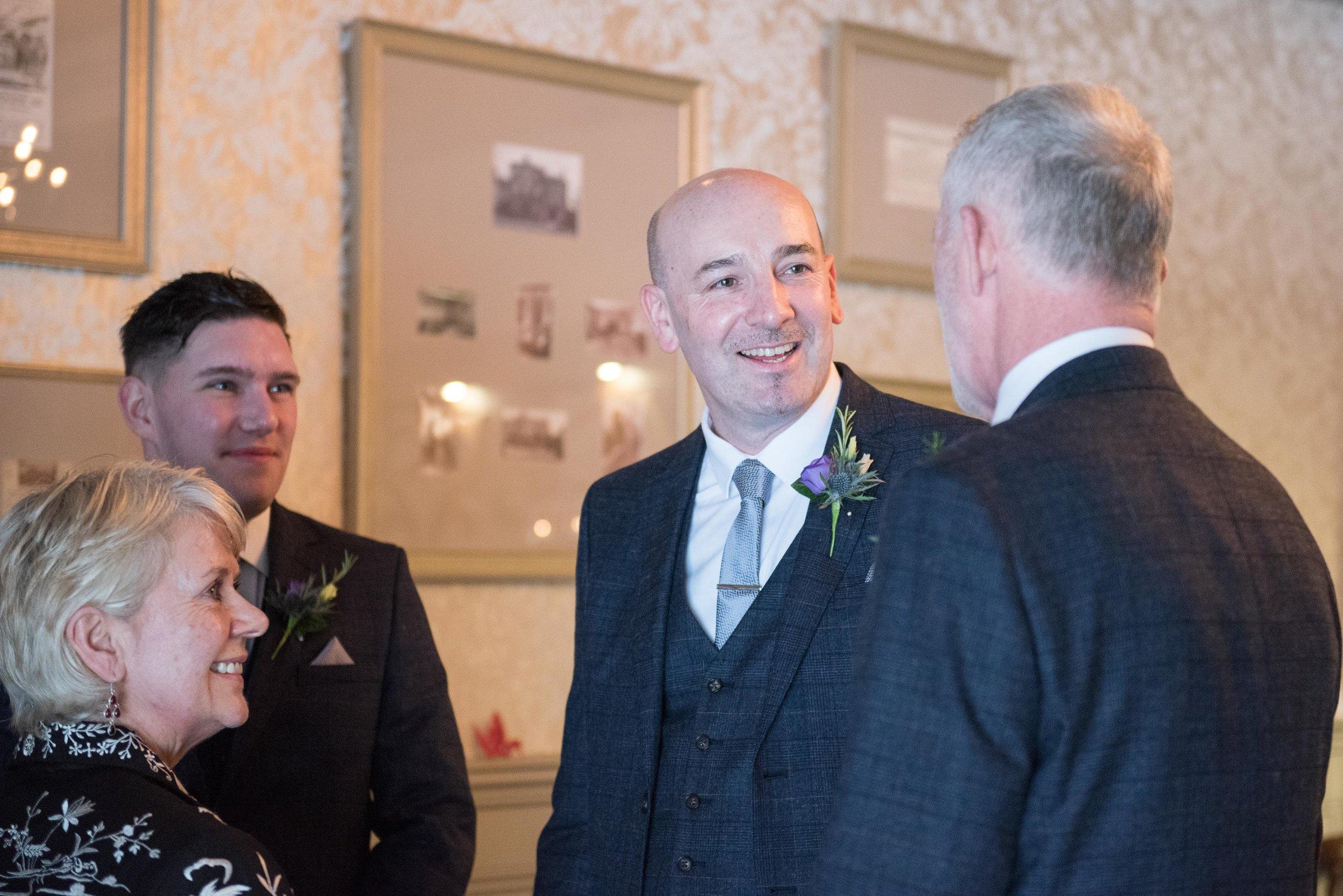 wedding guests at grassington house