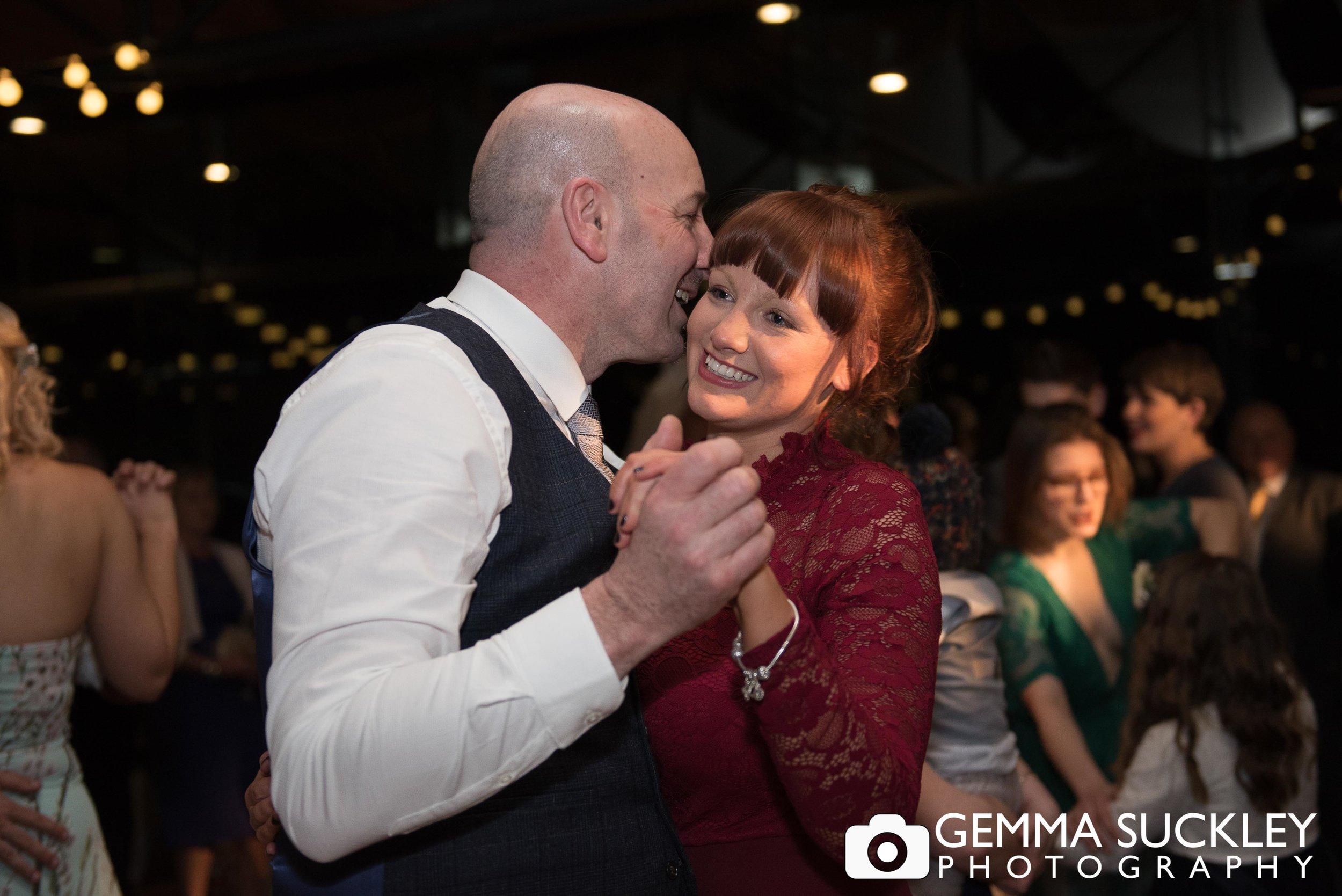 wedding guests dancing at utopia wedding