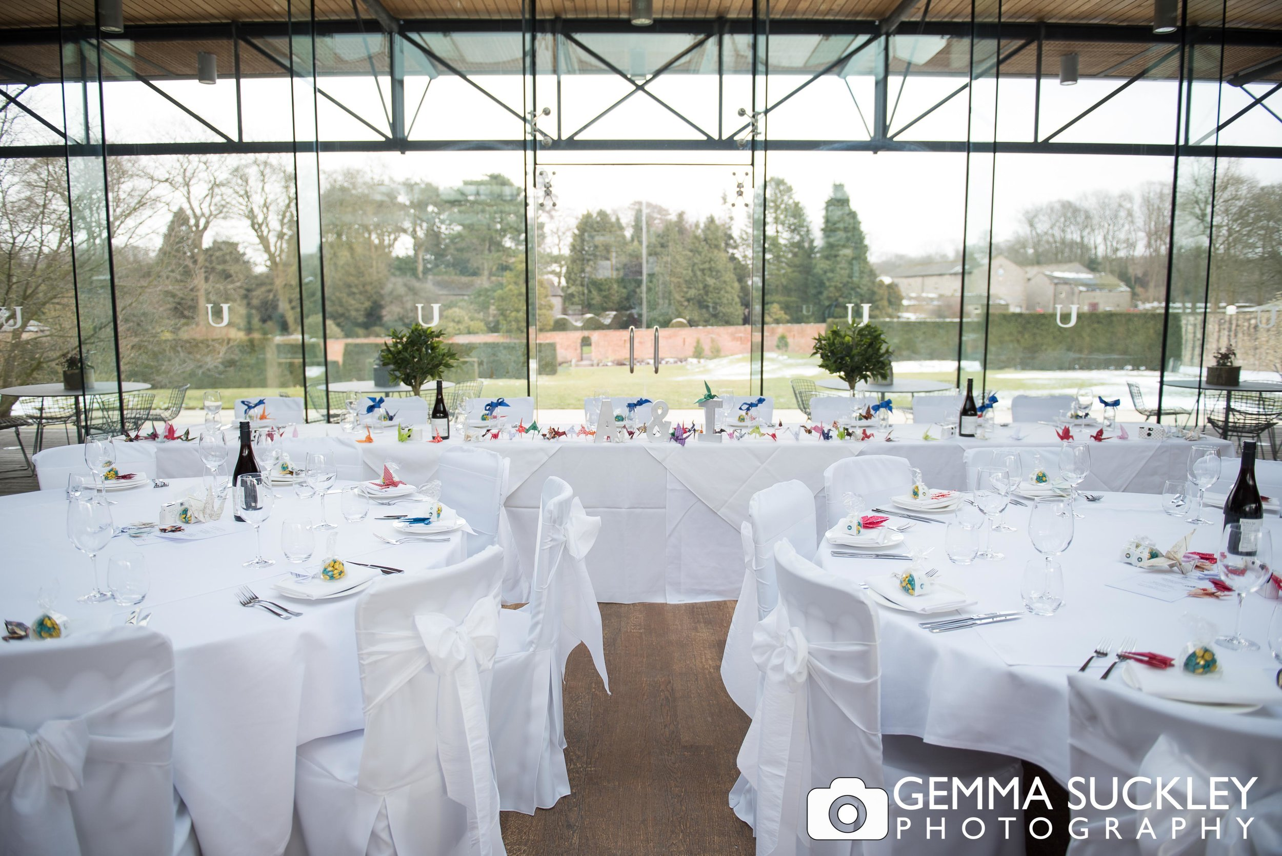 wedding room in utopia at broughton hall