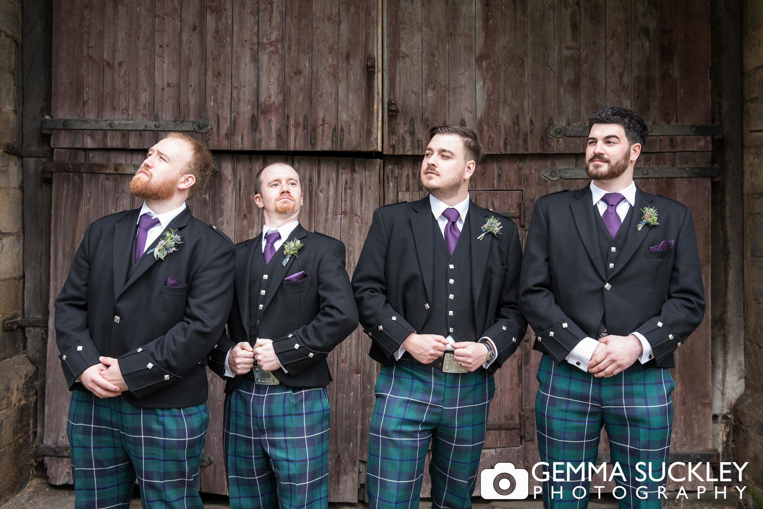 grooms party at east riddlesden hall