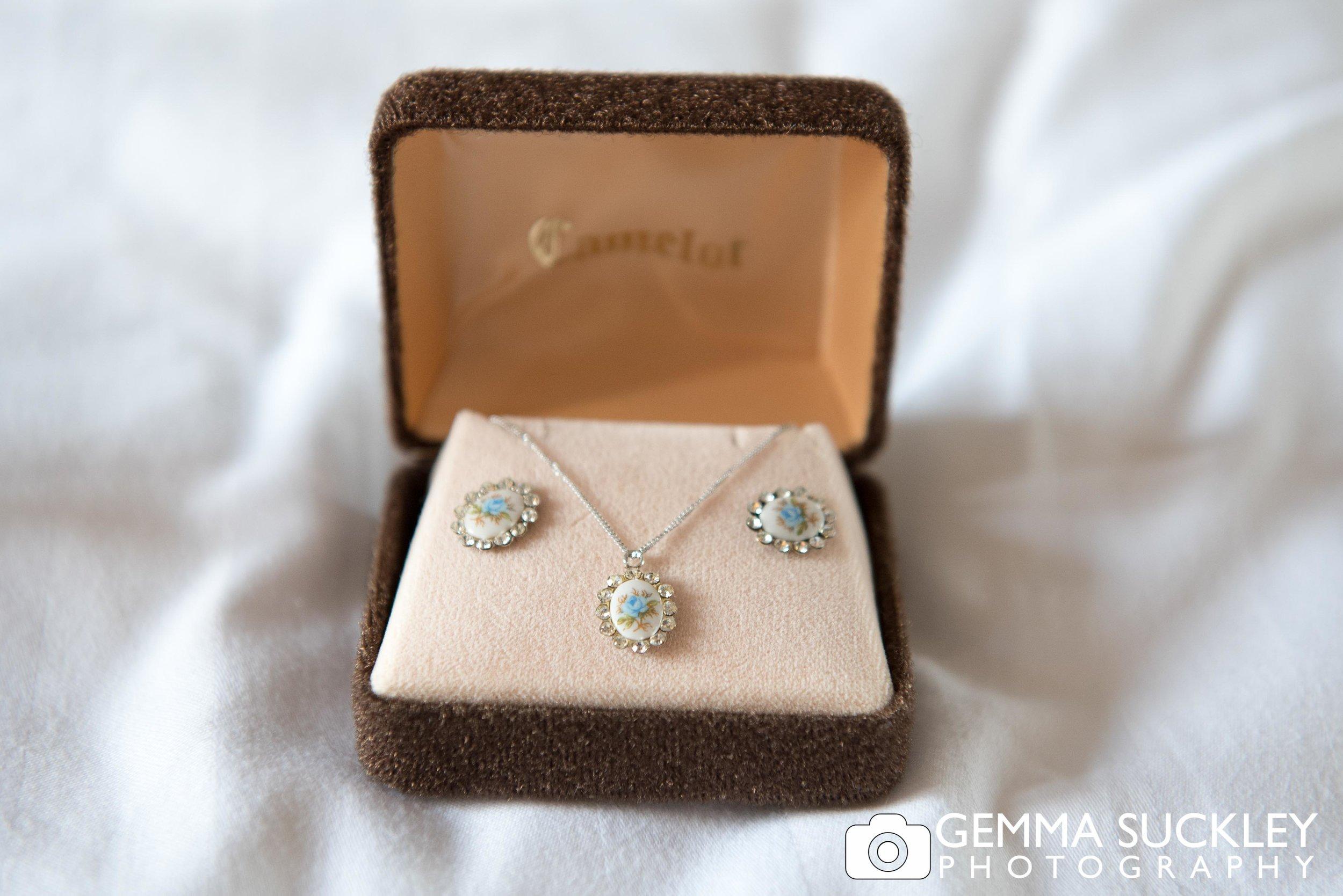 bridal blue earrings