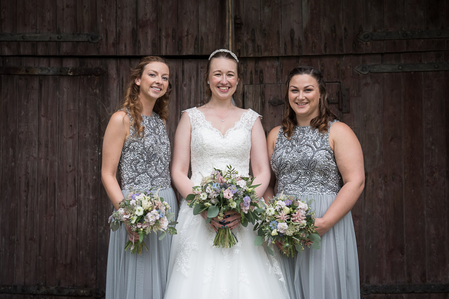 bridal party at east riddlesden hall
