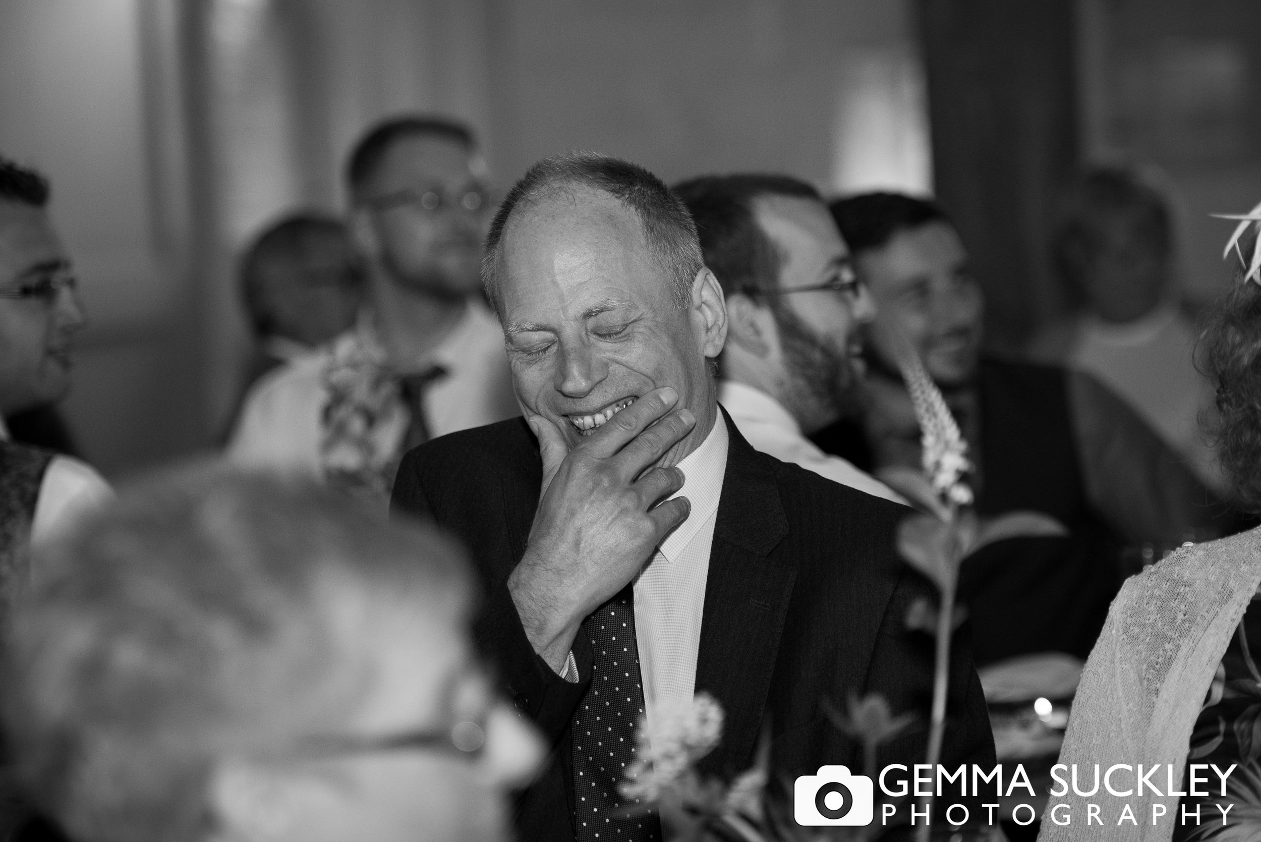 wedding guest react to speeches at east riddlesden hall