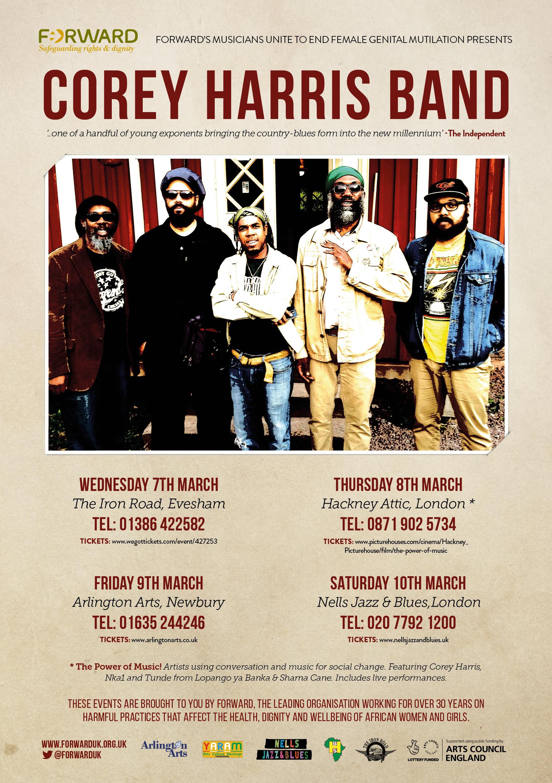 FORWARD Corey Harris Band UK Tour poster
