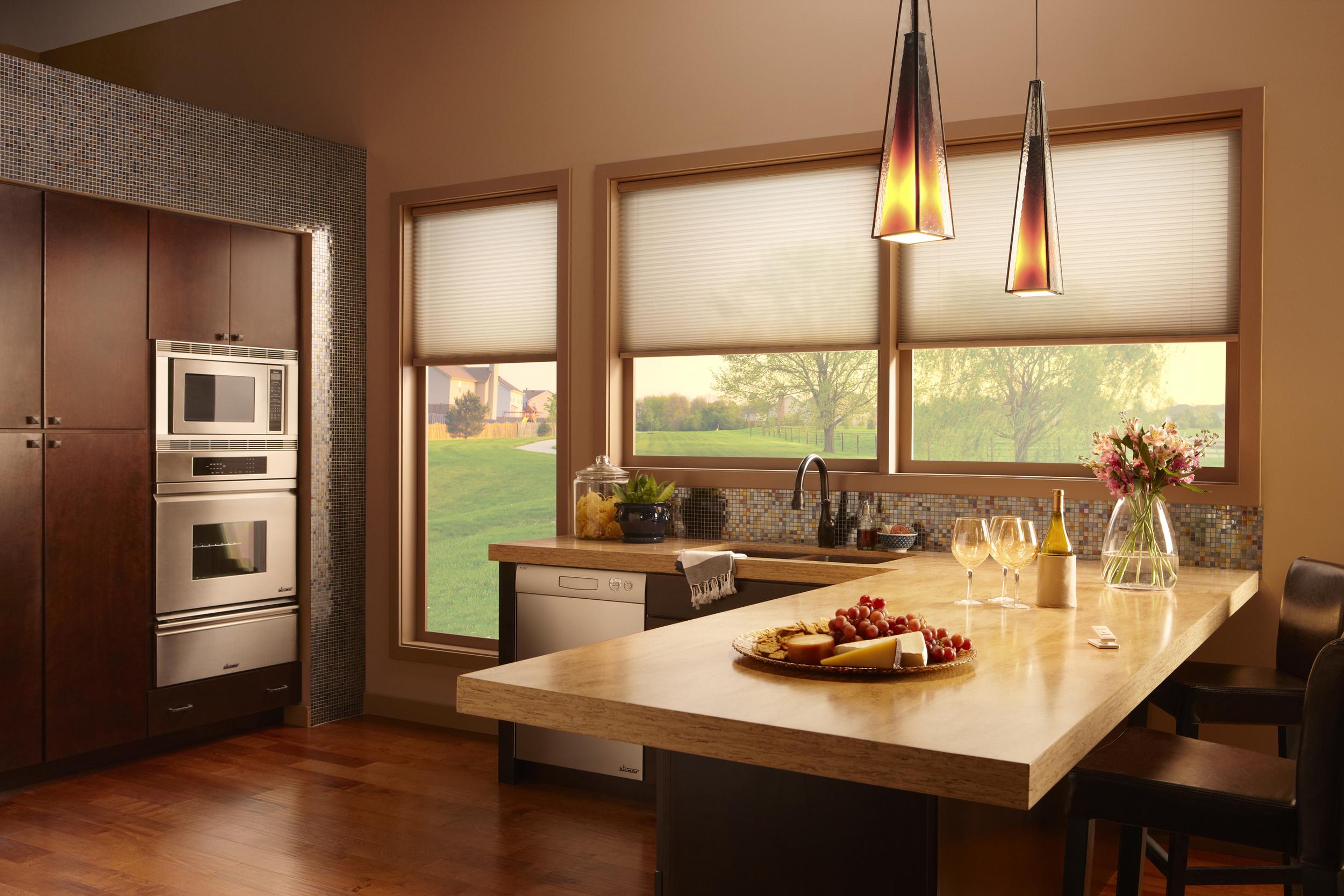 well-lit hardwood kitchen
