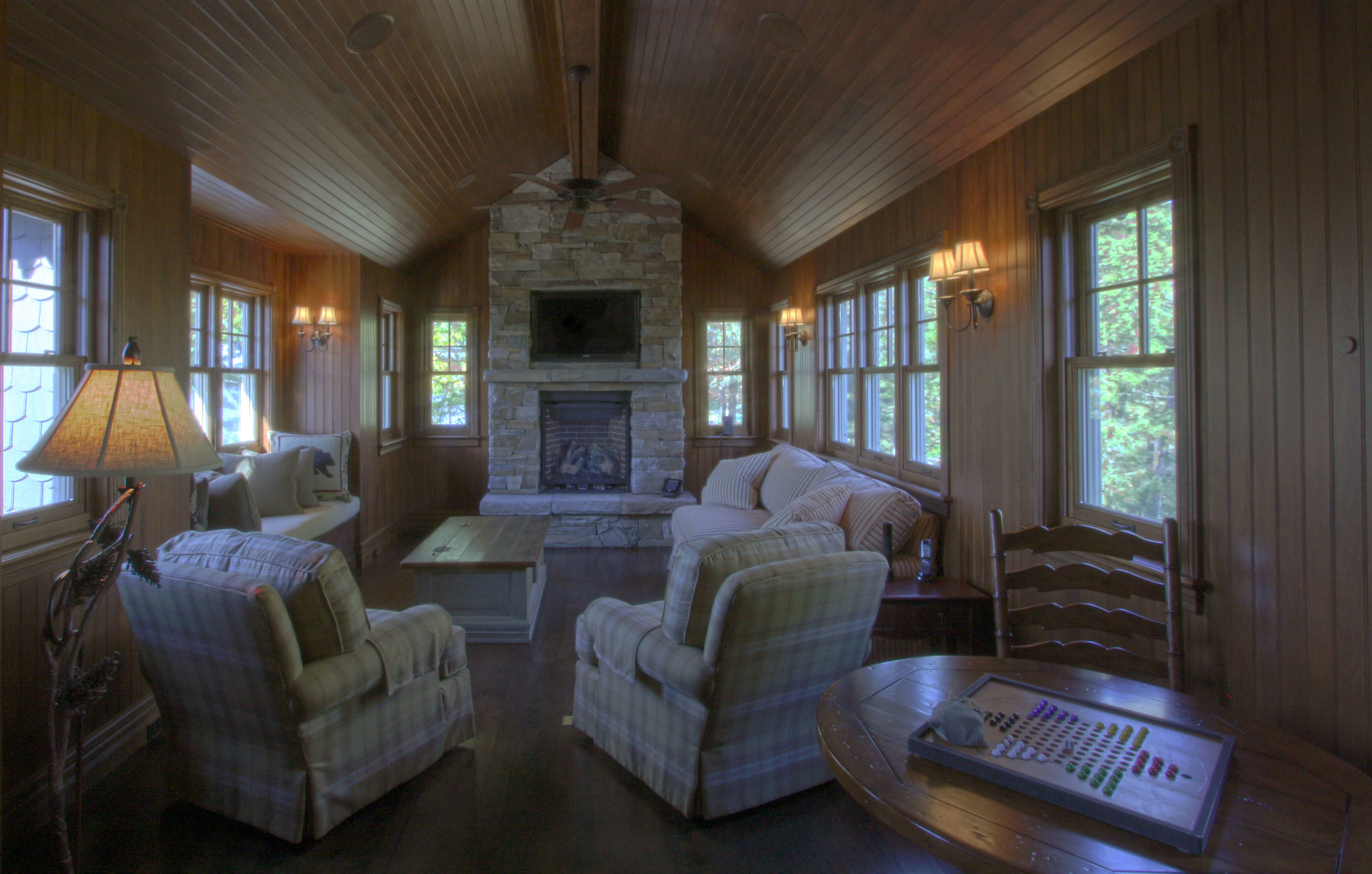 Living Room and Fire Place