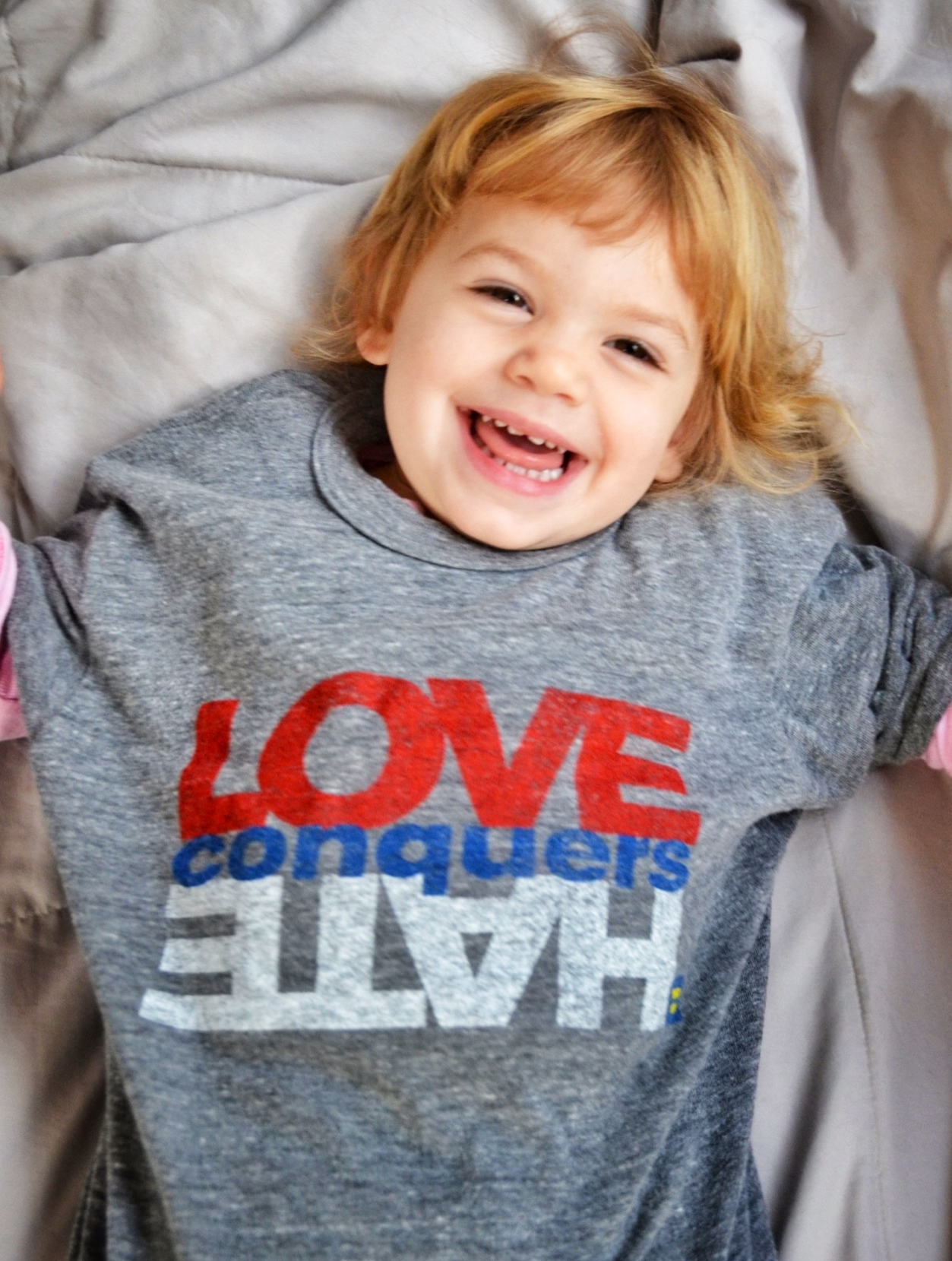 Our beautiful goddaughter teaching us thatLOVE conquers HATE!