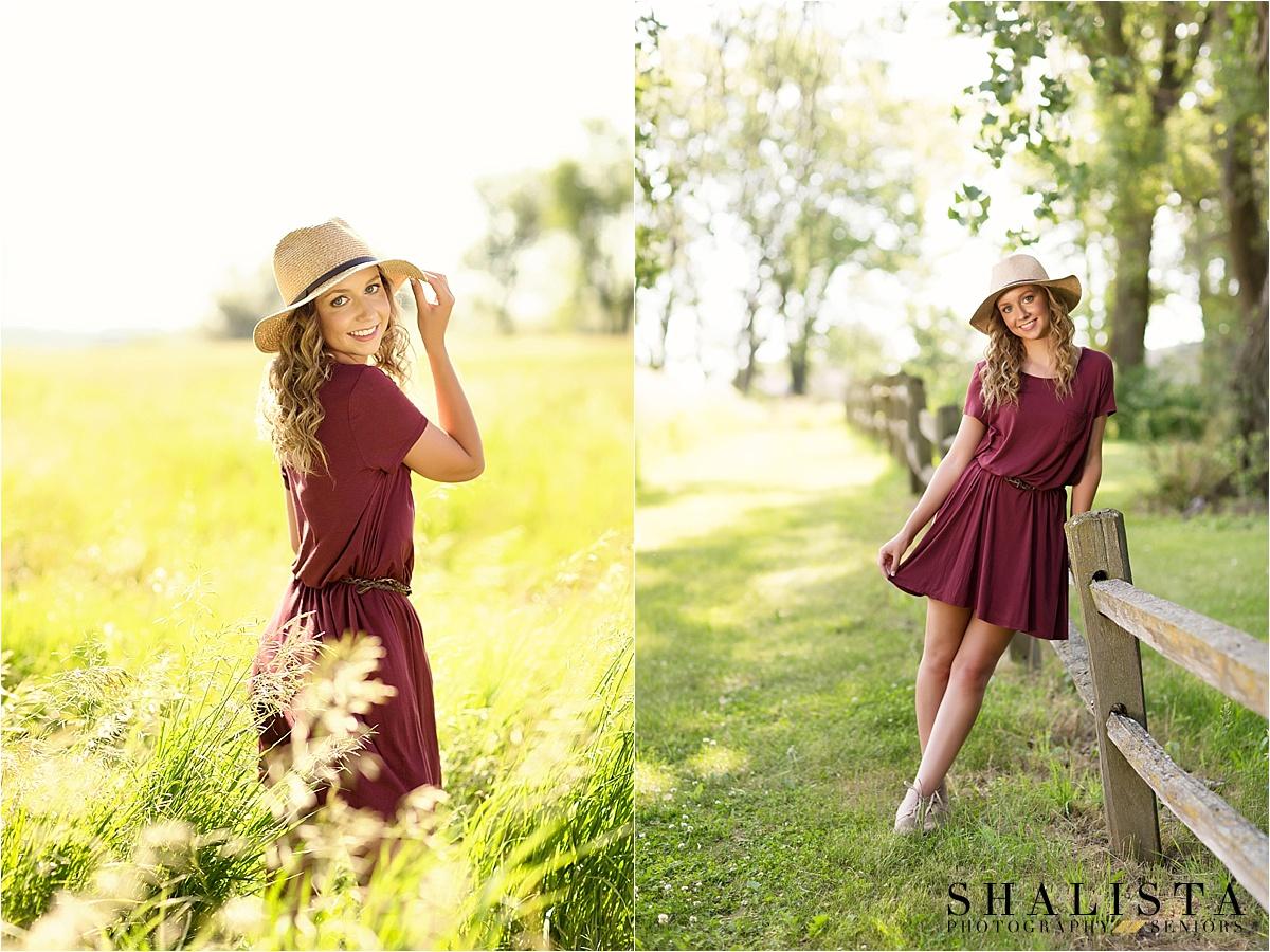 Senior girl with hat