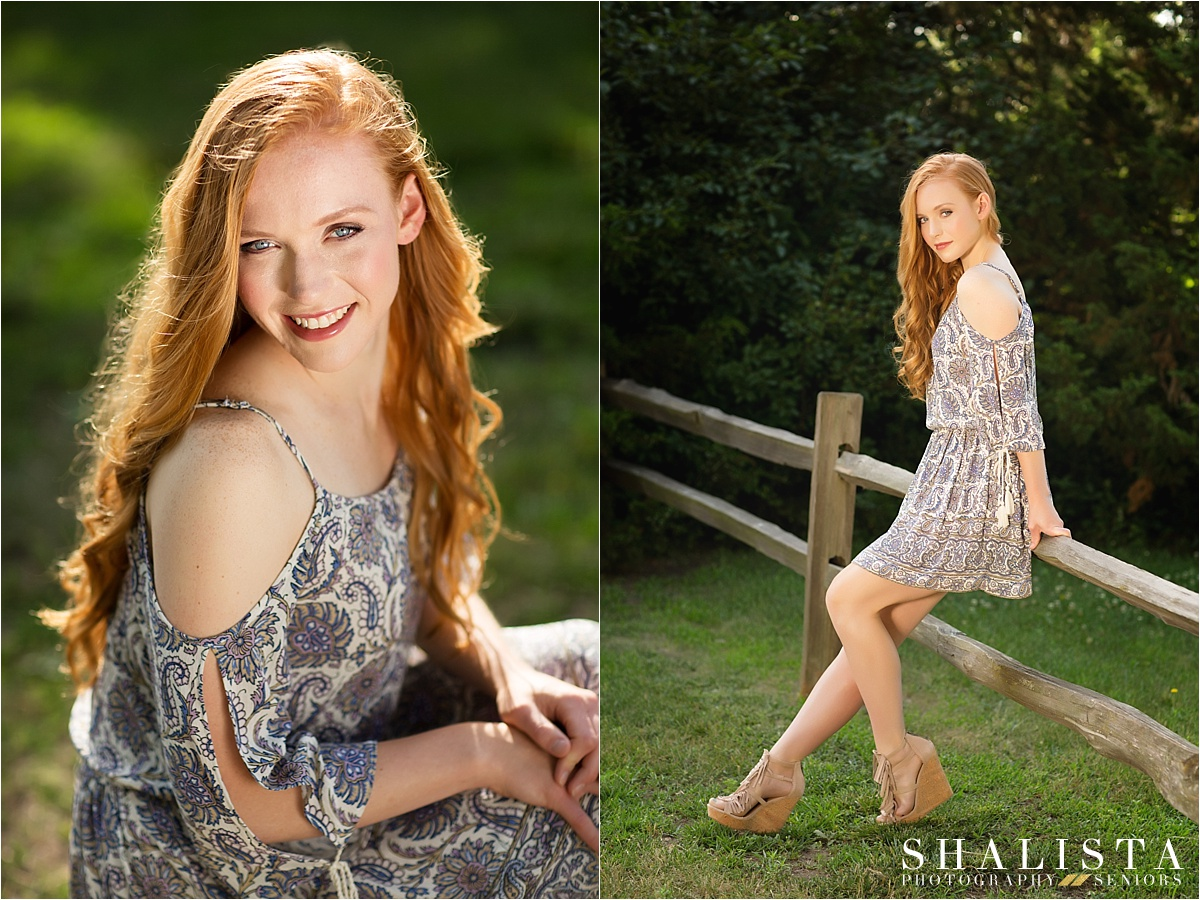Senior girl with red hair