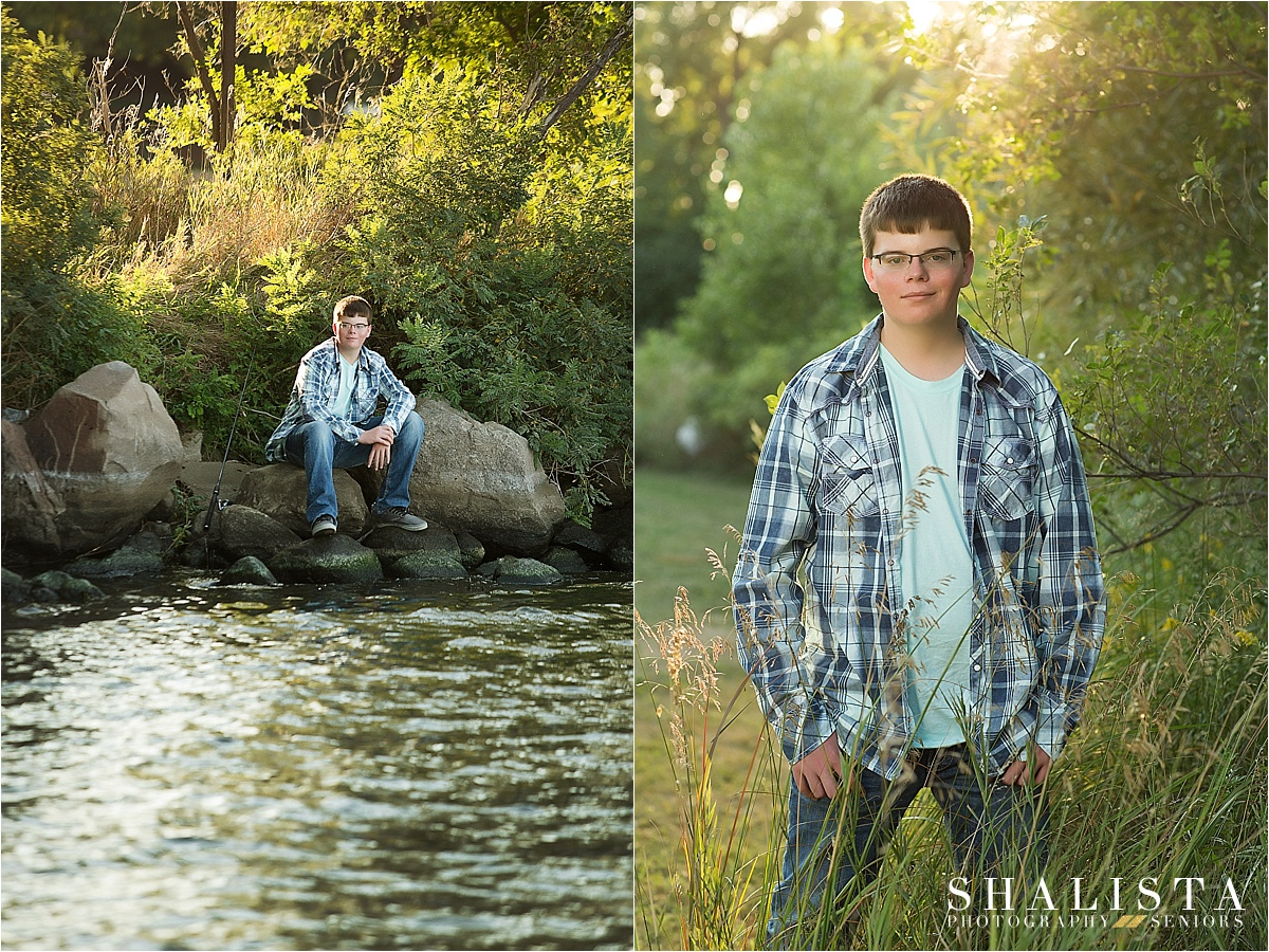 Sioux Falls sunset boy photos