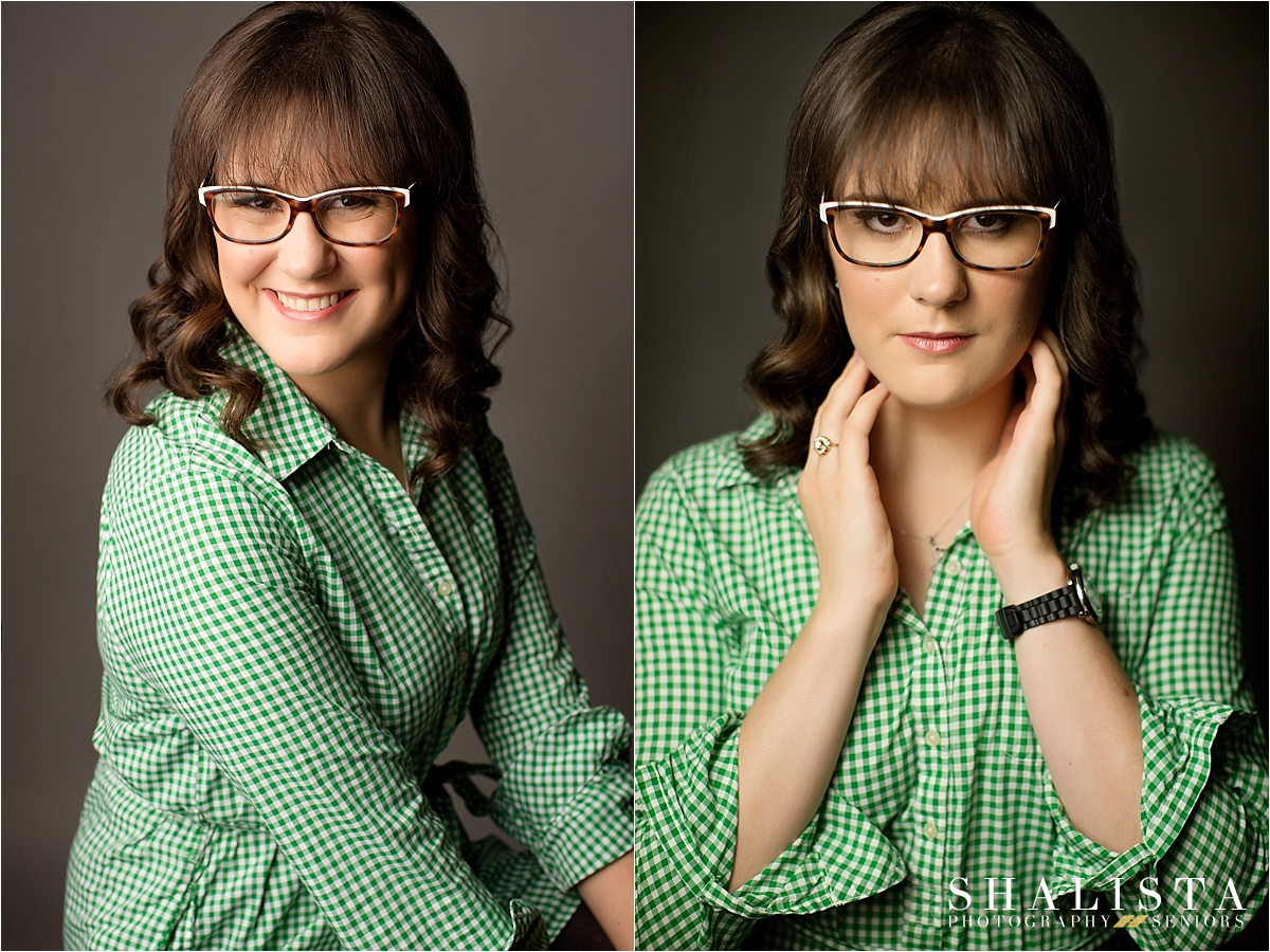 Senior girl with glasses